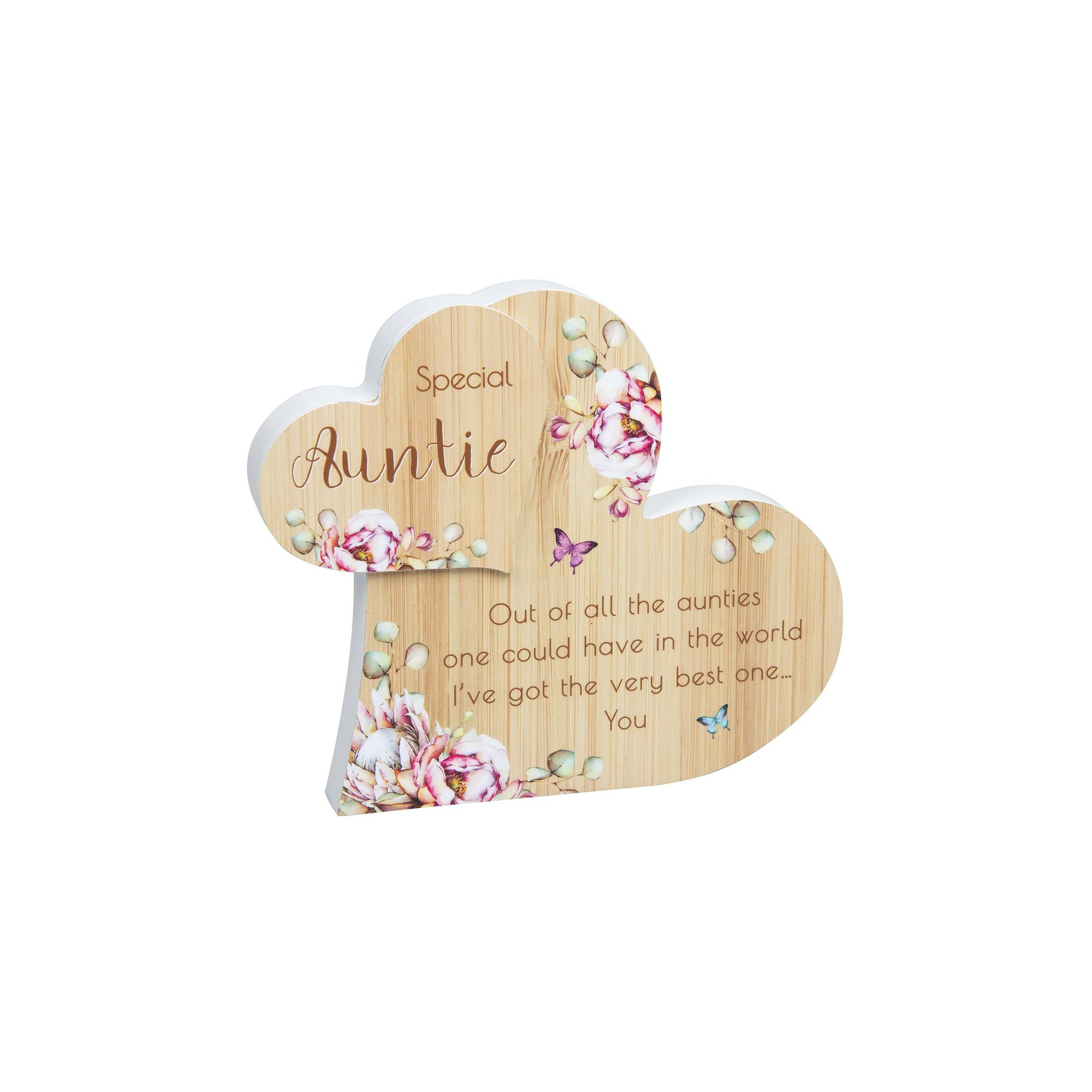 Image of Auntie Vintage Floral Standing Heart