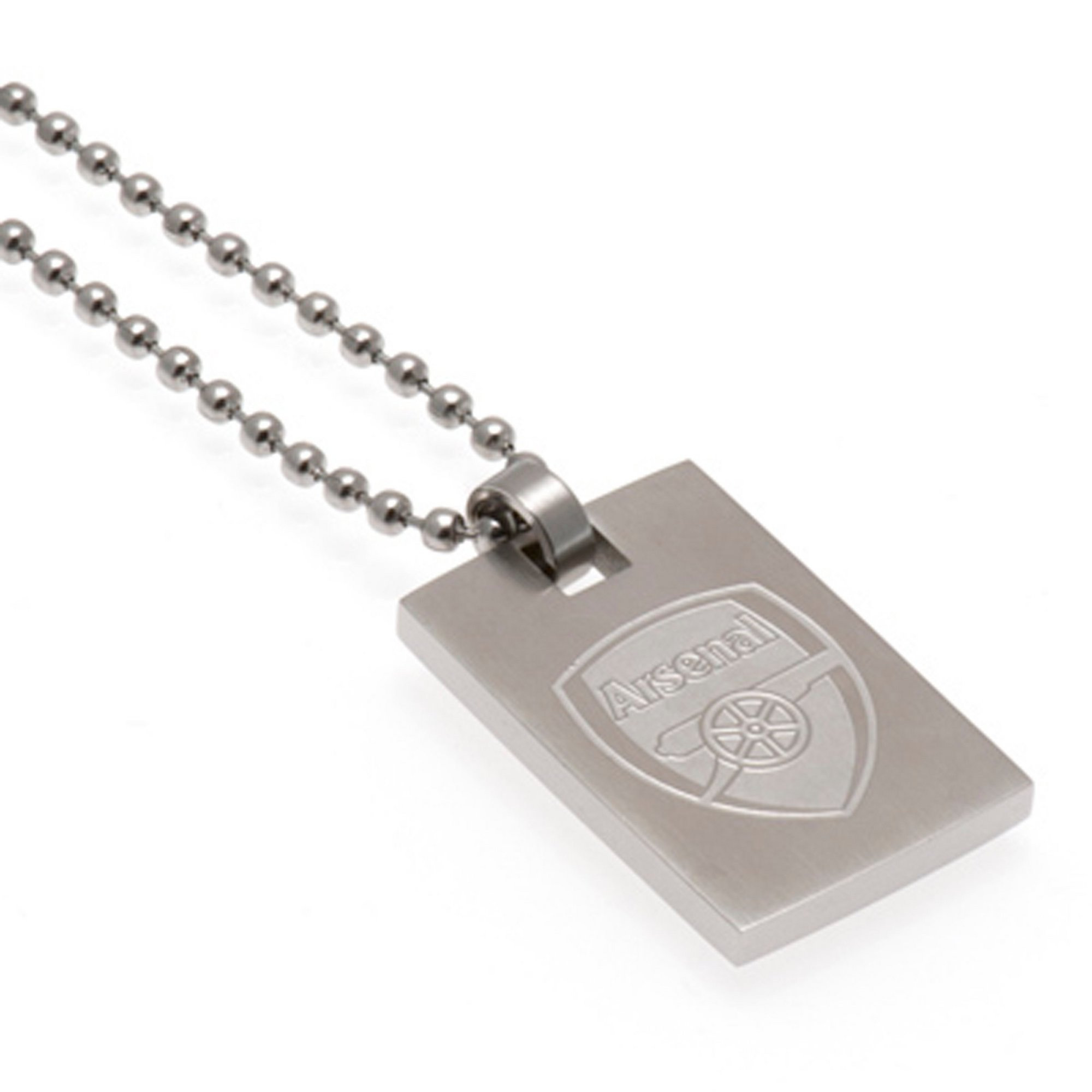 Image of Arsenal FC Crest Dog Tag and Ball Chain