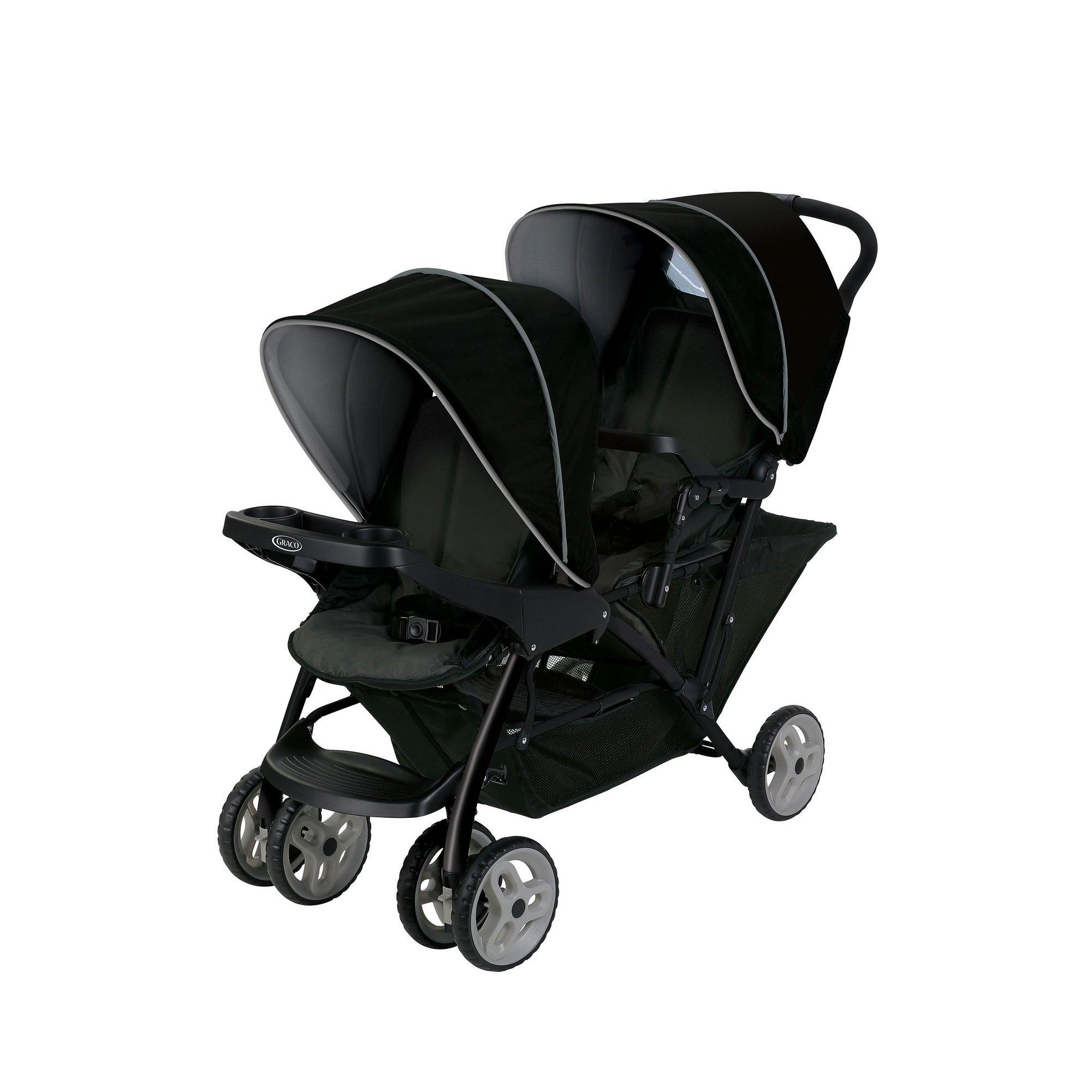 Image of Graco Black/Grey Stadium Duo Tandem Stroller