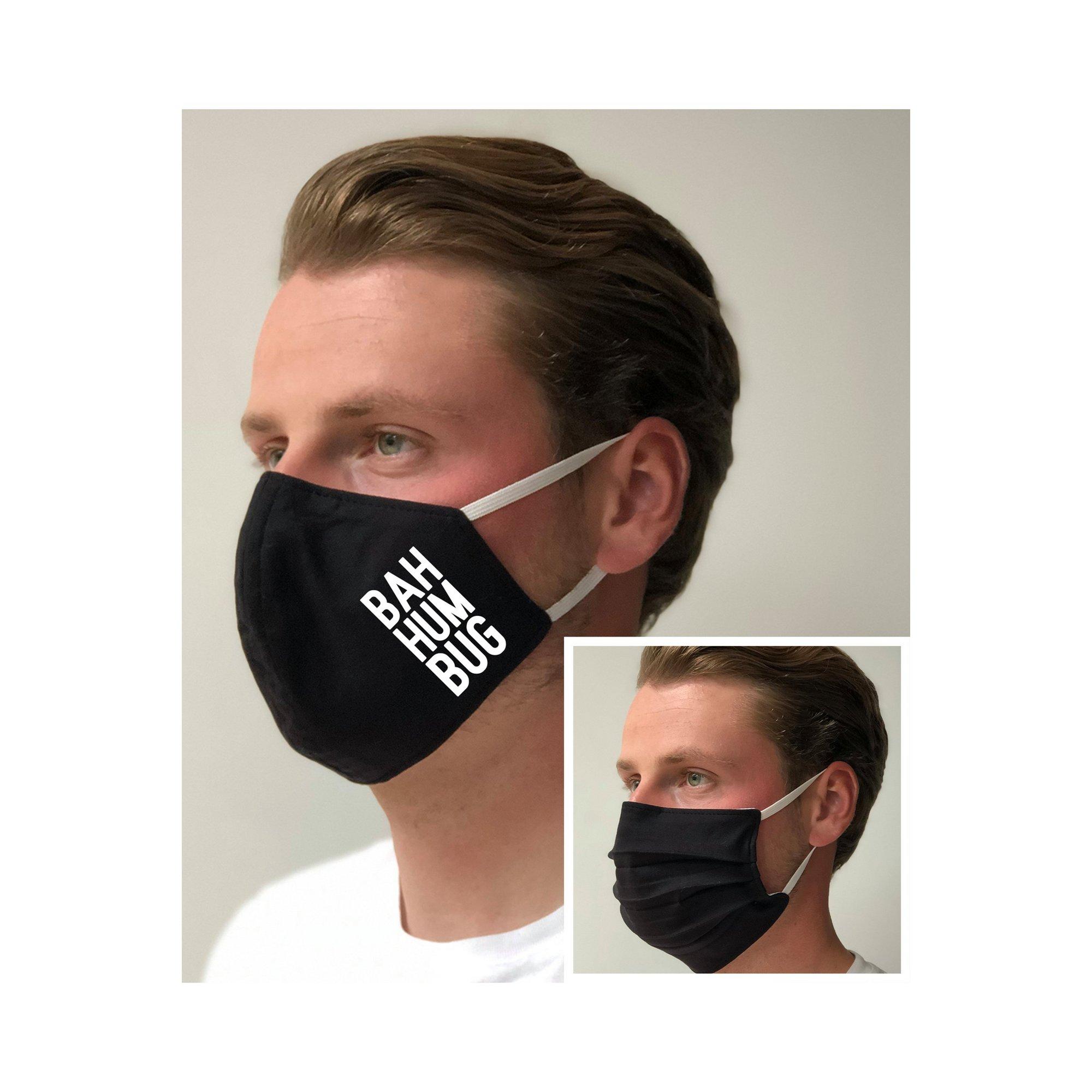 Image of Bah Humbug Black Face Mask