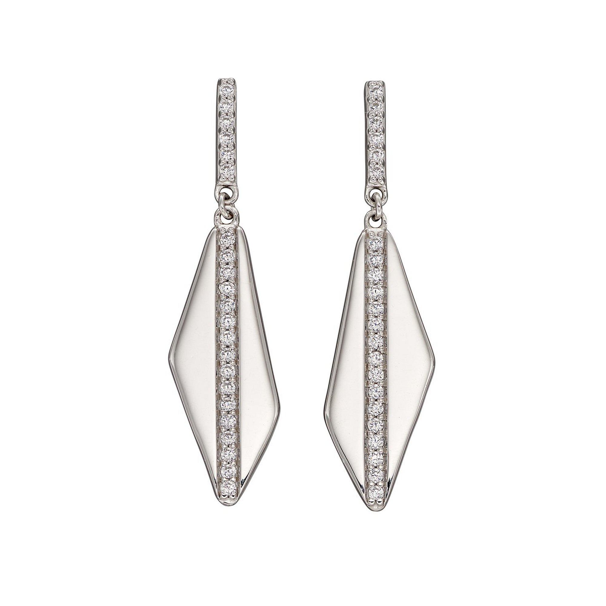 Image of Fiorelli Asymmetric Channel Set CZ Earrings