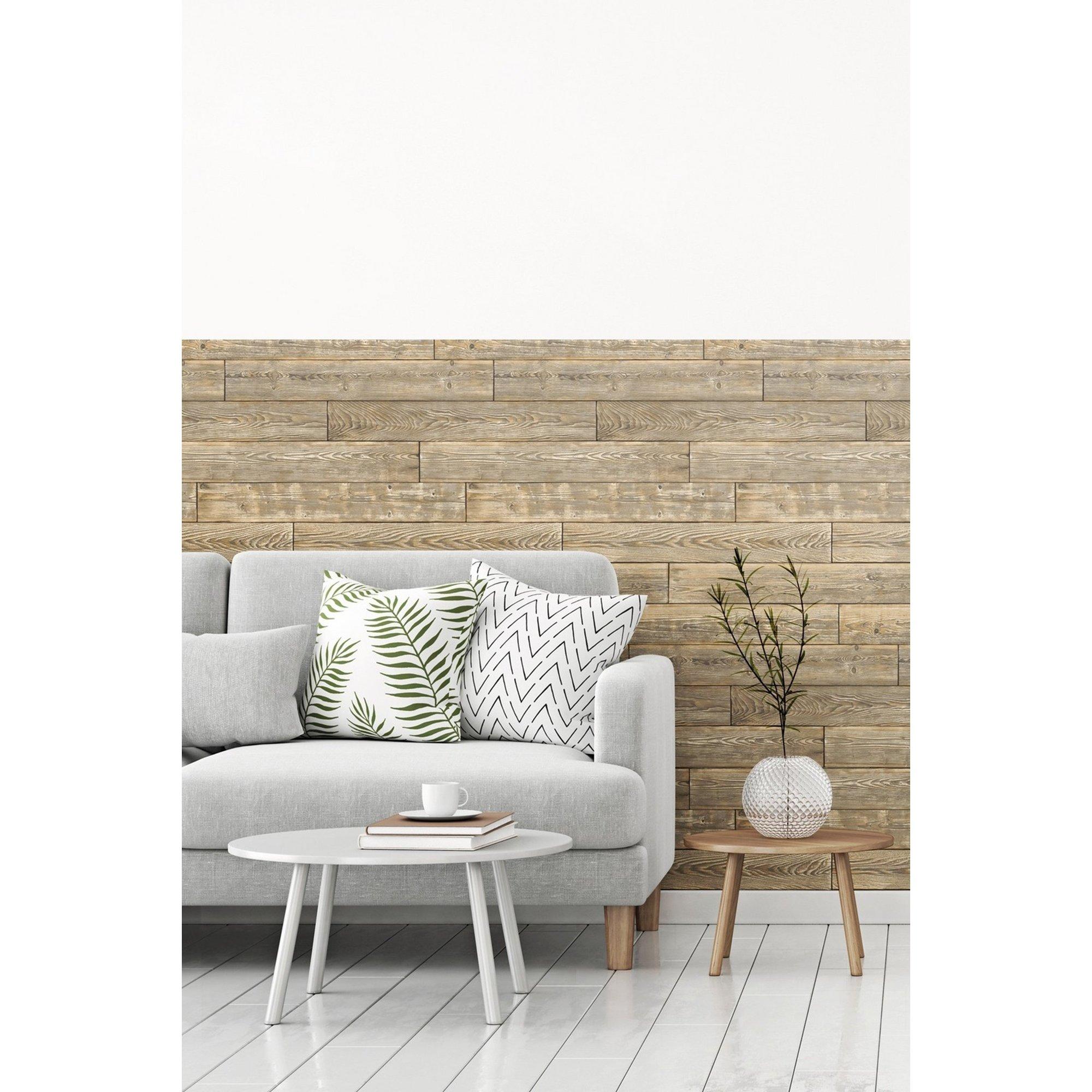 Image of D-C-Fix 3D Wallpaper for Splashbacks Shabby Wood