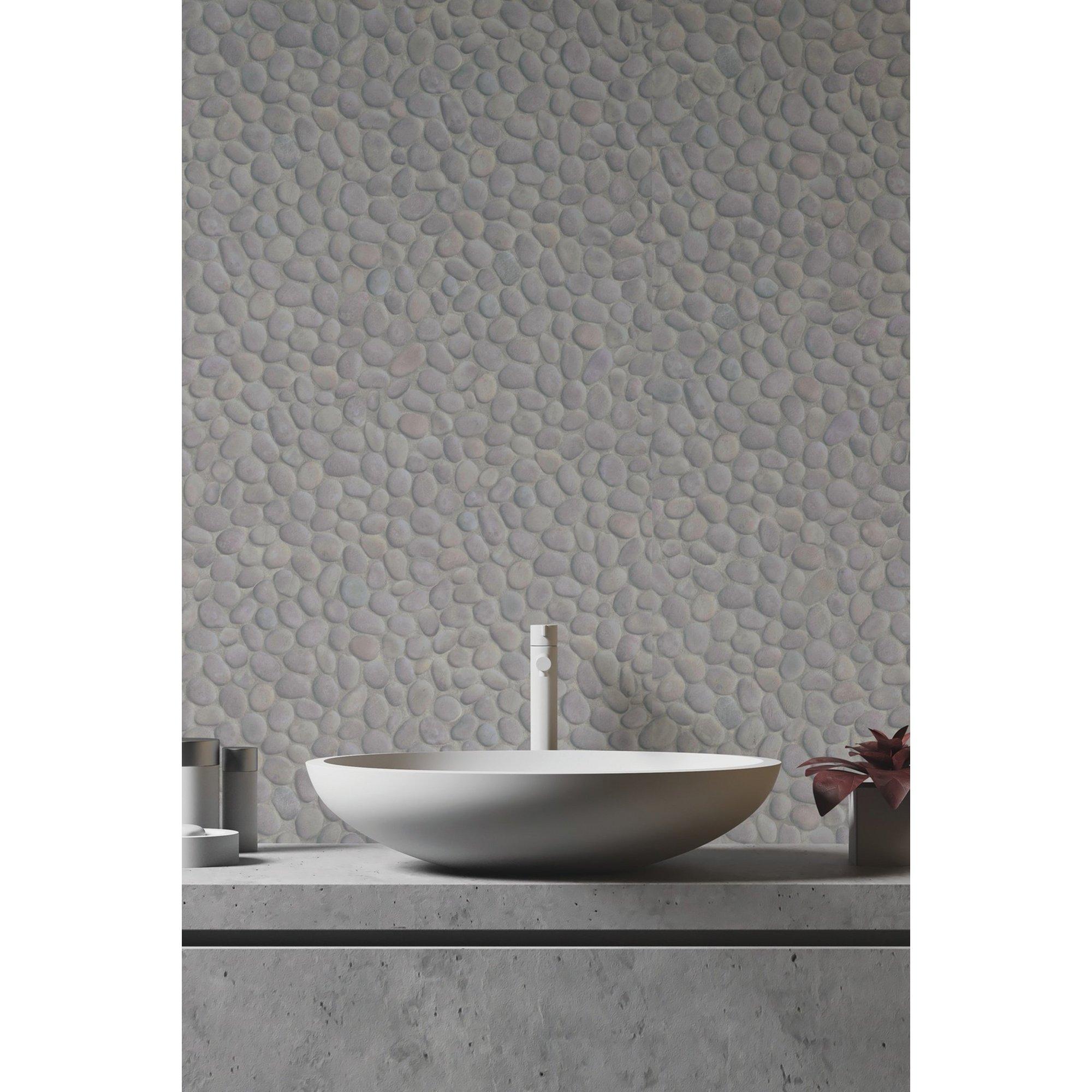 Image of D-C-Fix 3D Wallpaper for Splashbacks Pebbles Bato