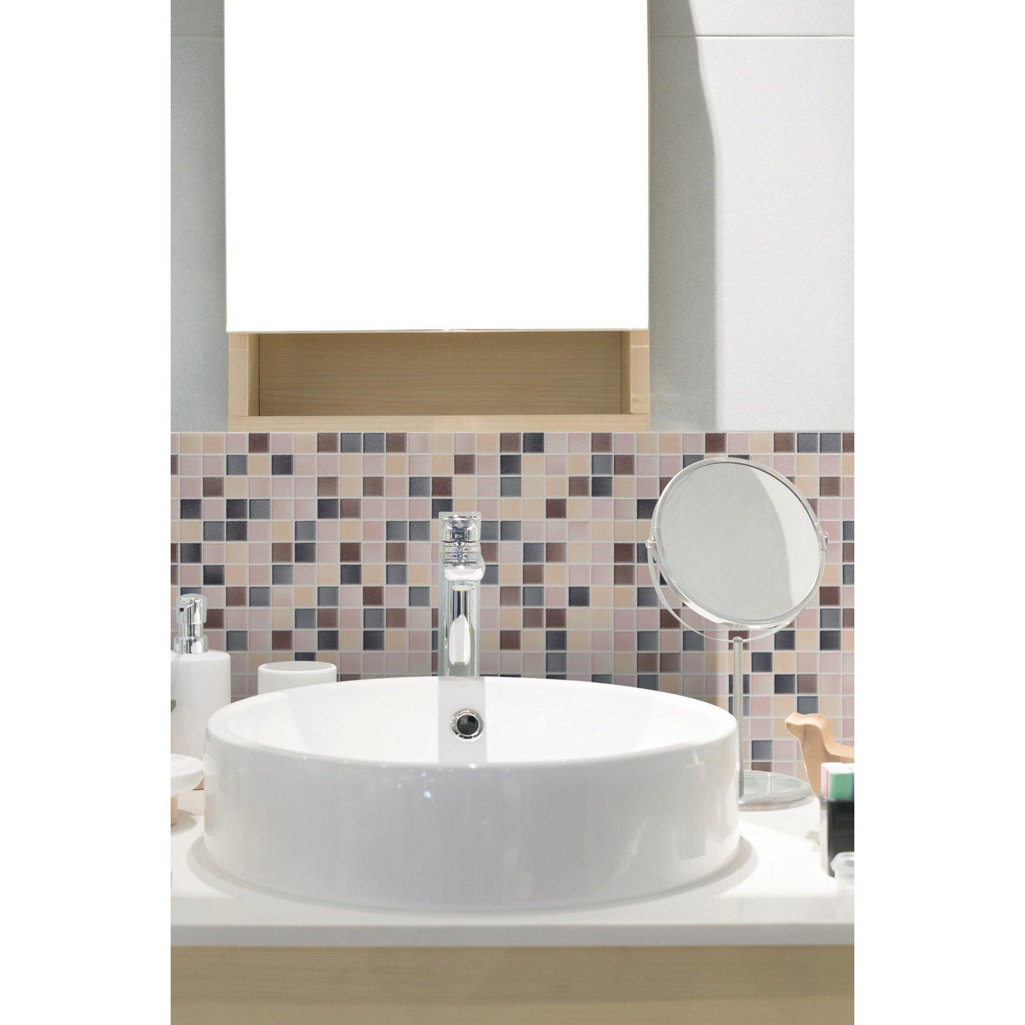 Image of D-C-Fix 3D Wallpaper for Splashbacks Mosaic Carrara