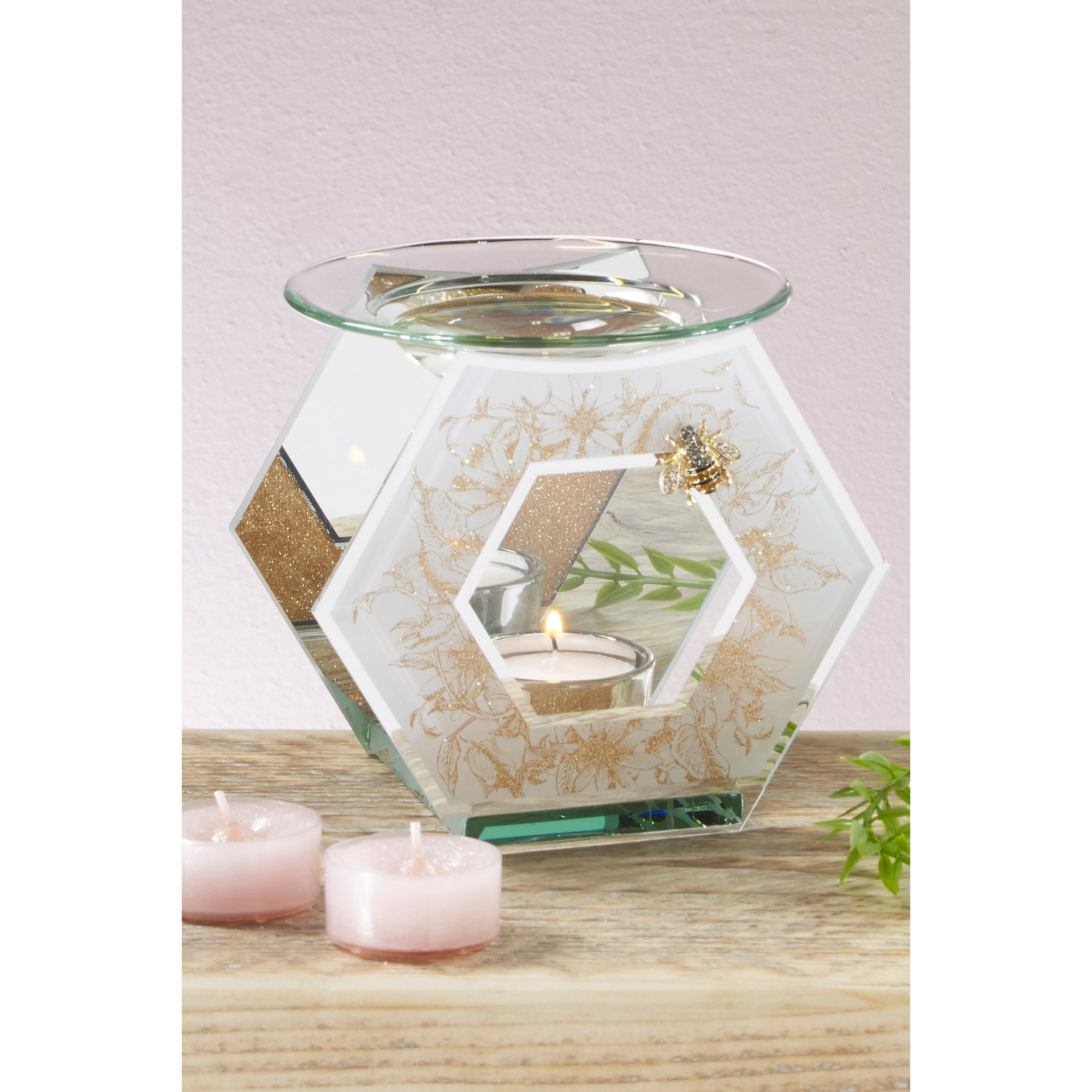 Image of Bee Glass Oil Burner Melt Warmer