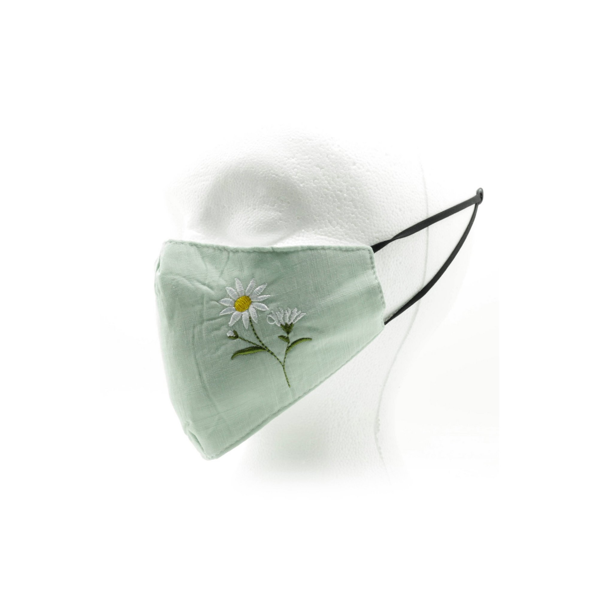 Image of Adult Embroidered Floral Reusable Face Mask