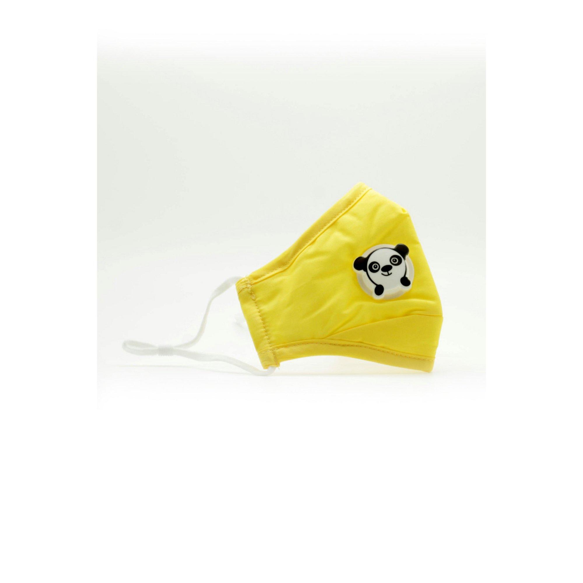 Image of Kids Yellow Panda Reusable Face Mask