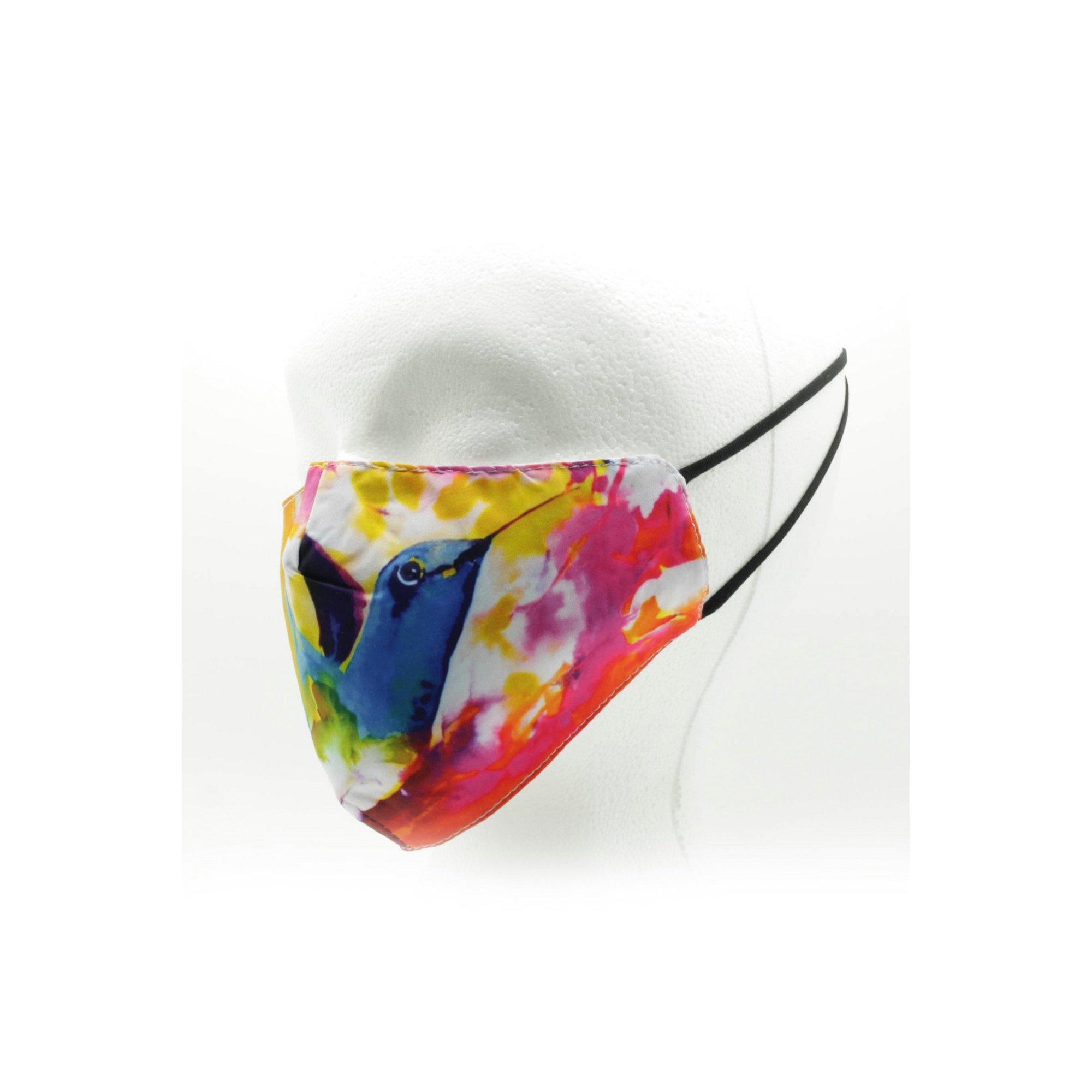 Image of Adult Hummingbird Print Reusable Face Mask