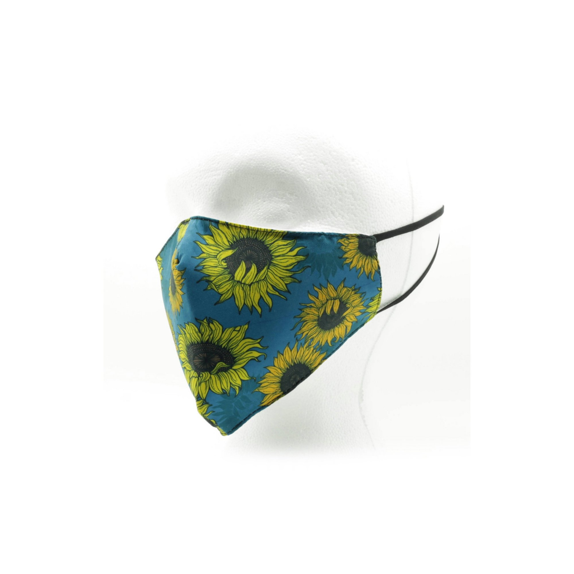 Image of Adult Sunflower Print Reusable Face Mask