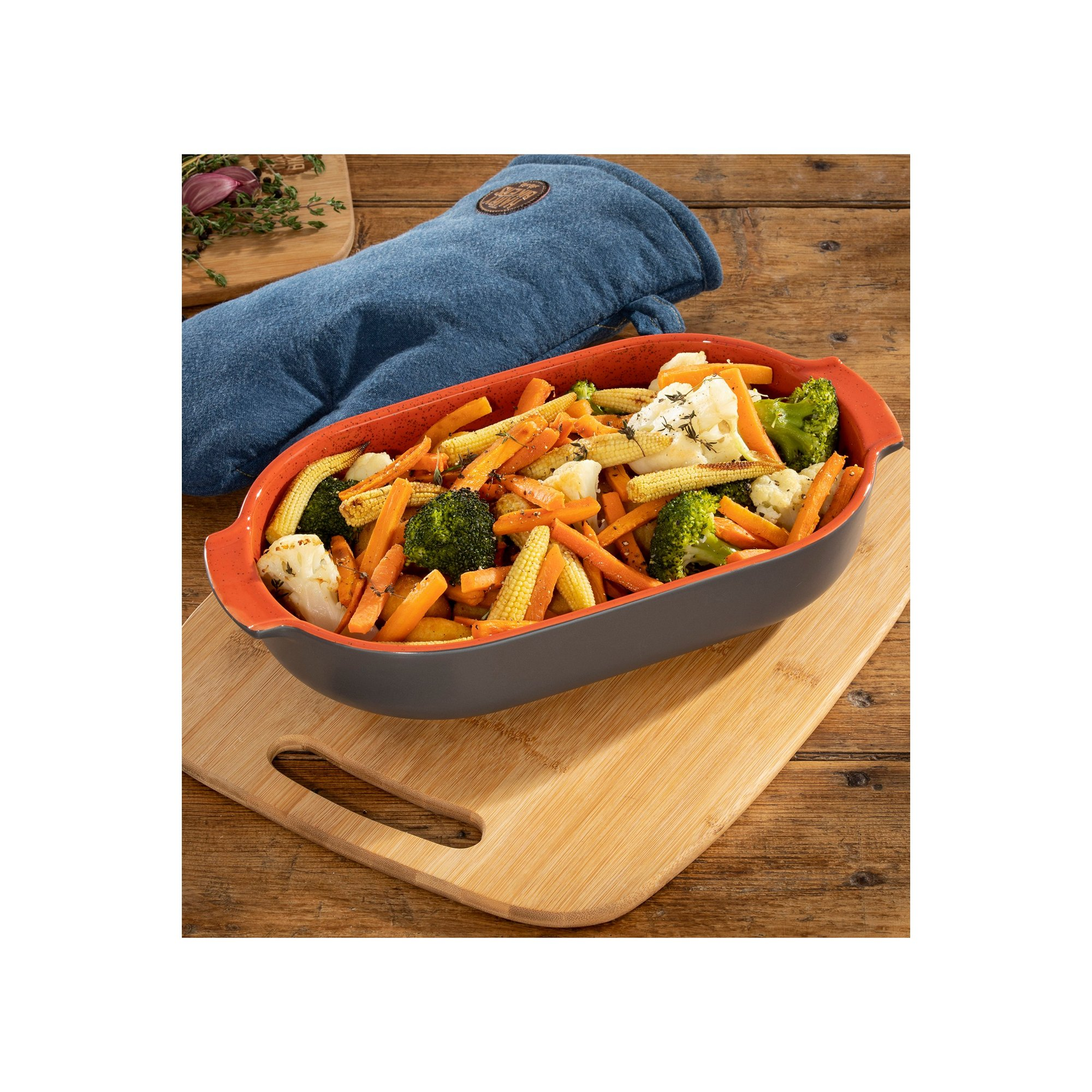 Image of Hairy Bikers Large Oval Baking Dish