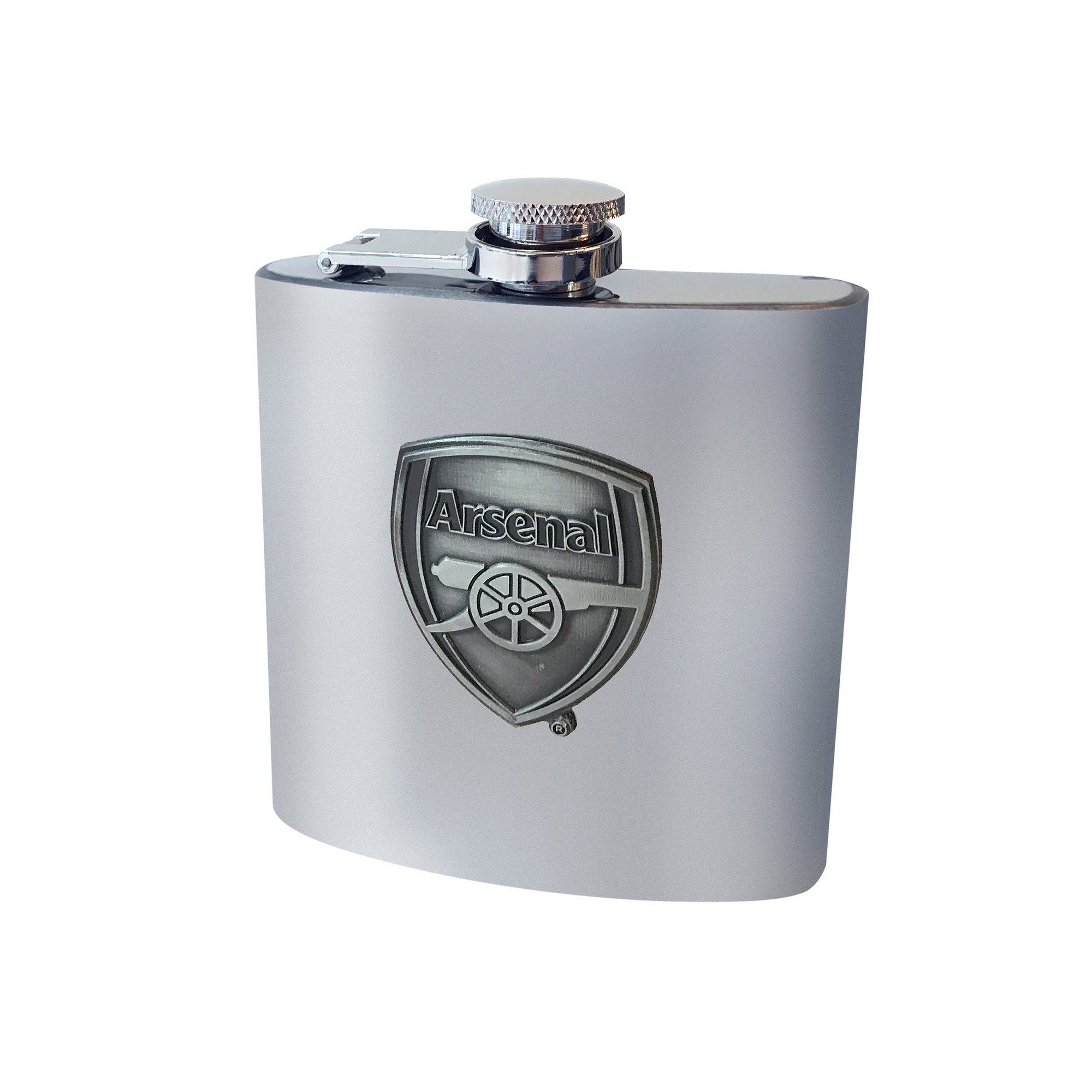Image of Arsenal FC Antique Club Crest Hip Flask