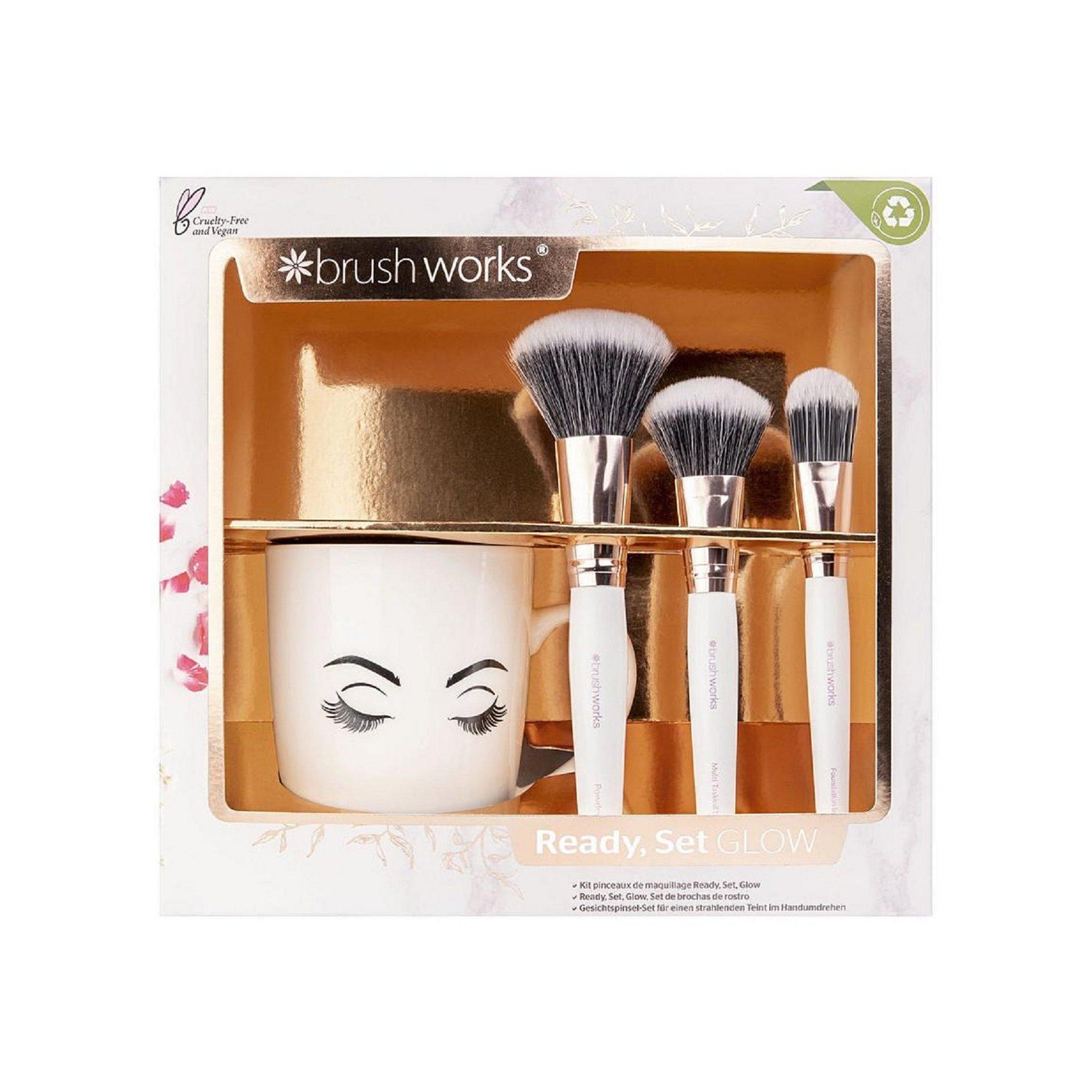Image of Brushworks Ready&#44 Set&#44 Glow Face Brush Set