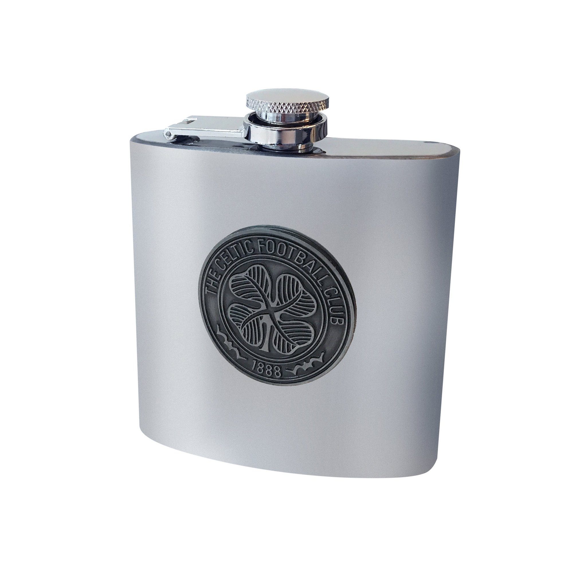 Image of Celtic FC Antique Club Crest Hip Flask