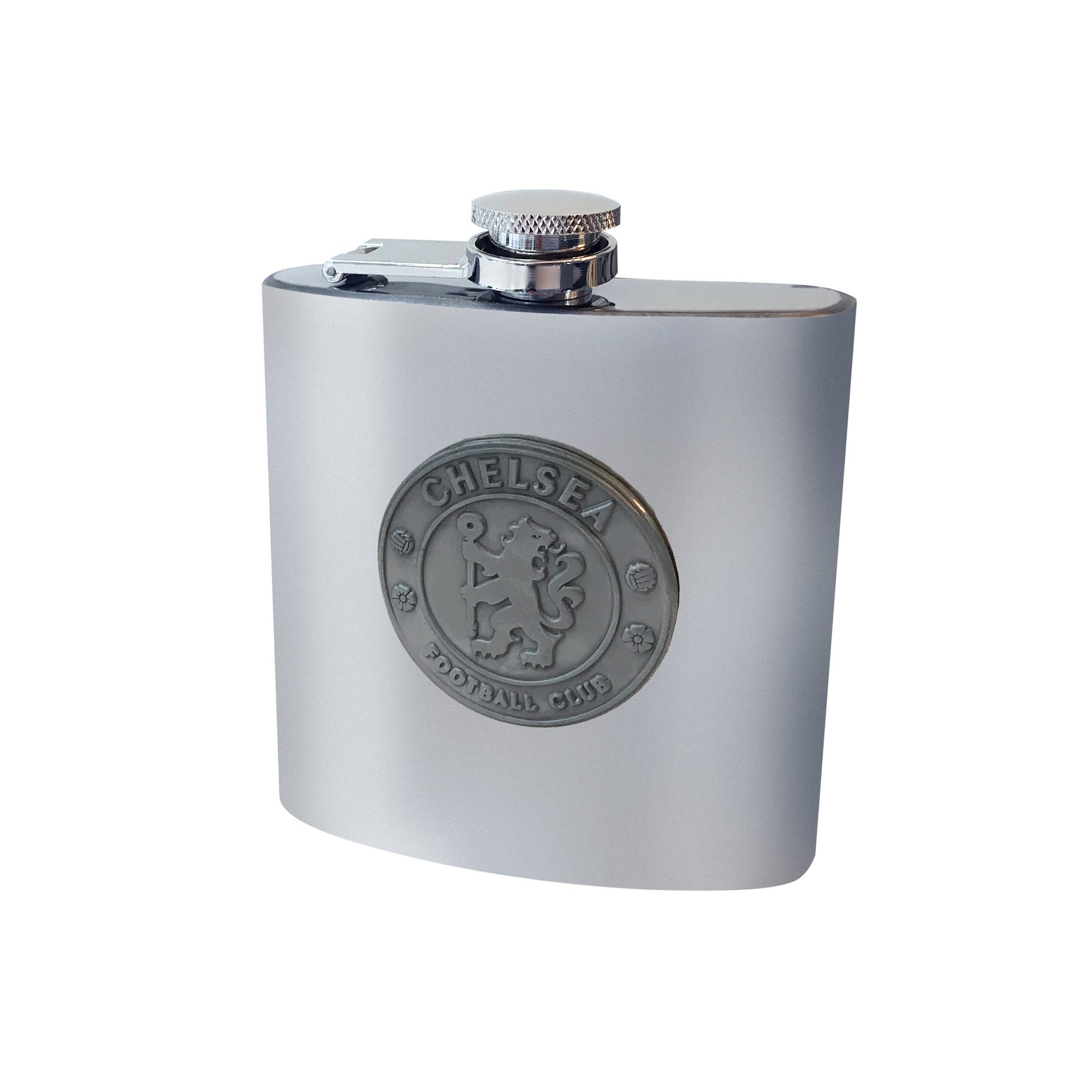 Image of Chelsea FC Antique Club Crest Hip Flask