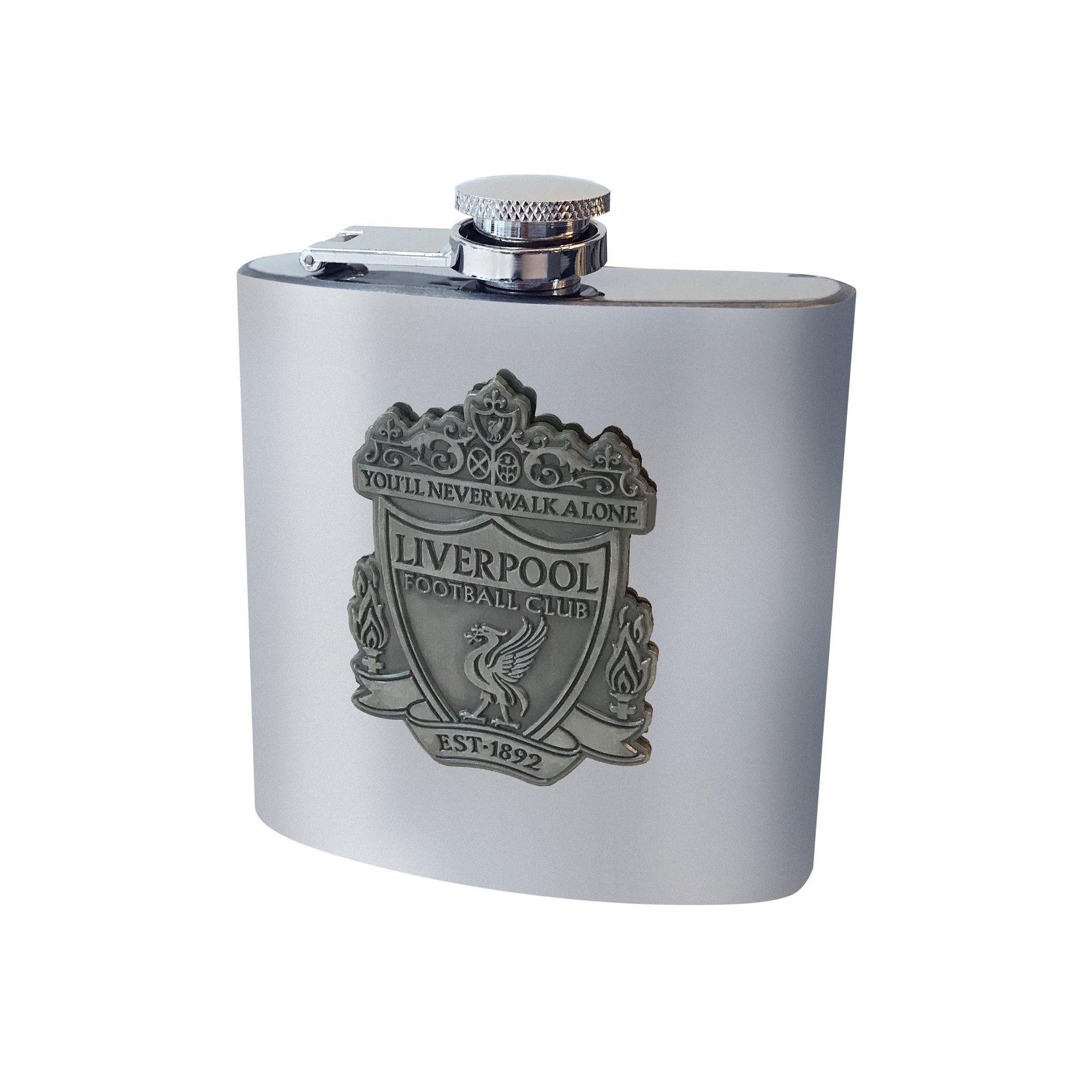 Image of Liverpool FC Antique Club Crest Hip Flask