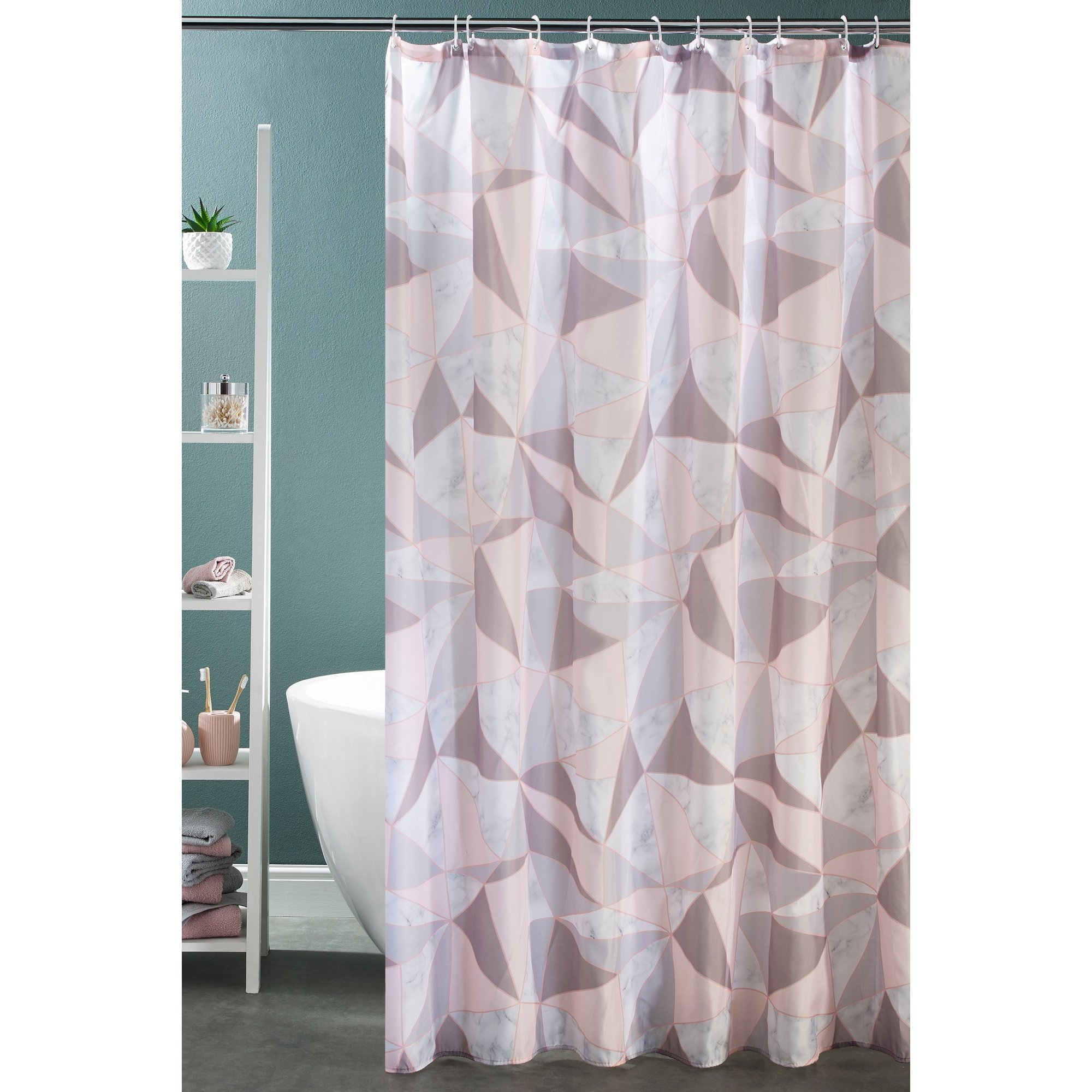 Image of Beldray Marble Geo Shower Curtain