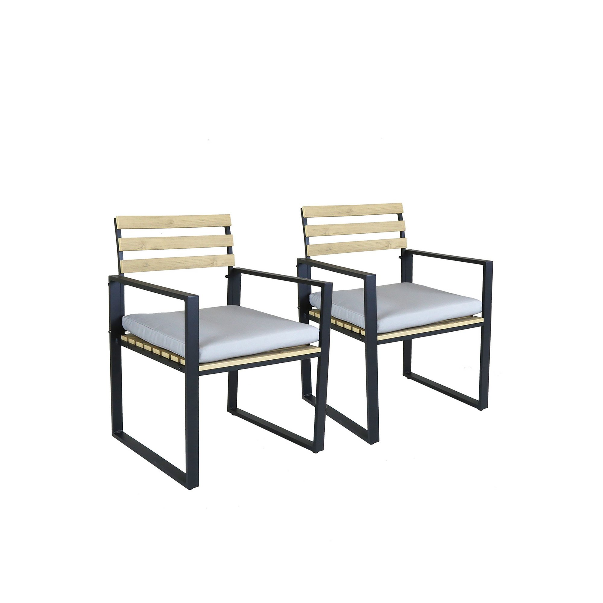 Image of Charles Bentley Polywood and Extrusion Aluminium Pair of Chairs