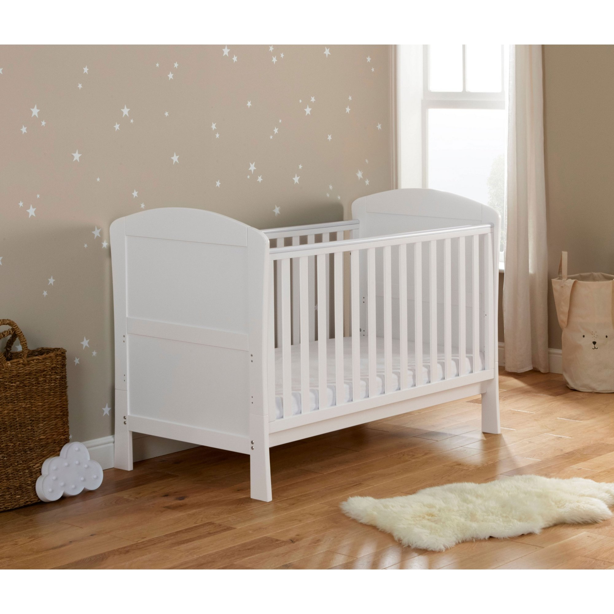 Image of Aston White Drop Side Cot Bed