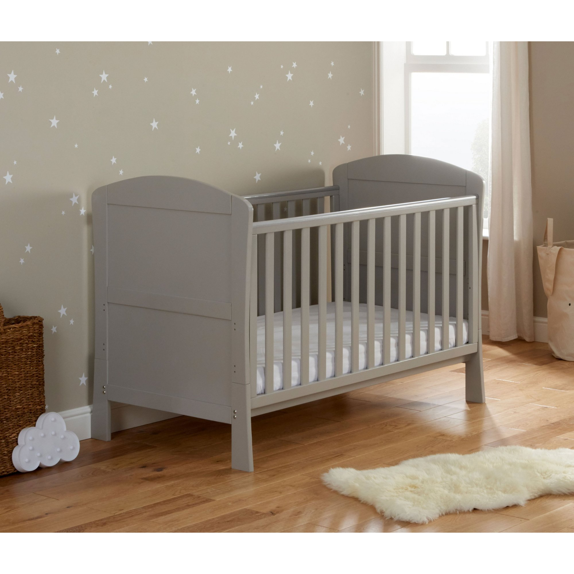 Image of Aston Grey Drop Side Cot Bed
