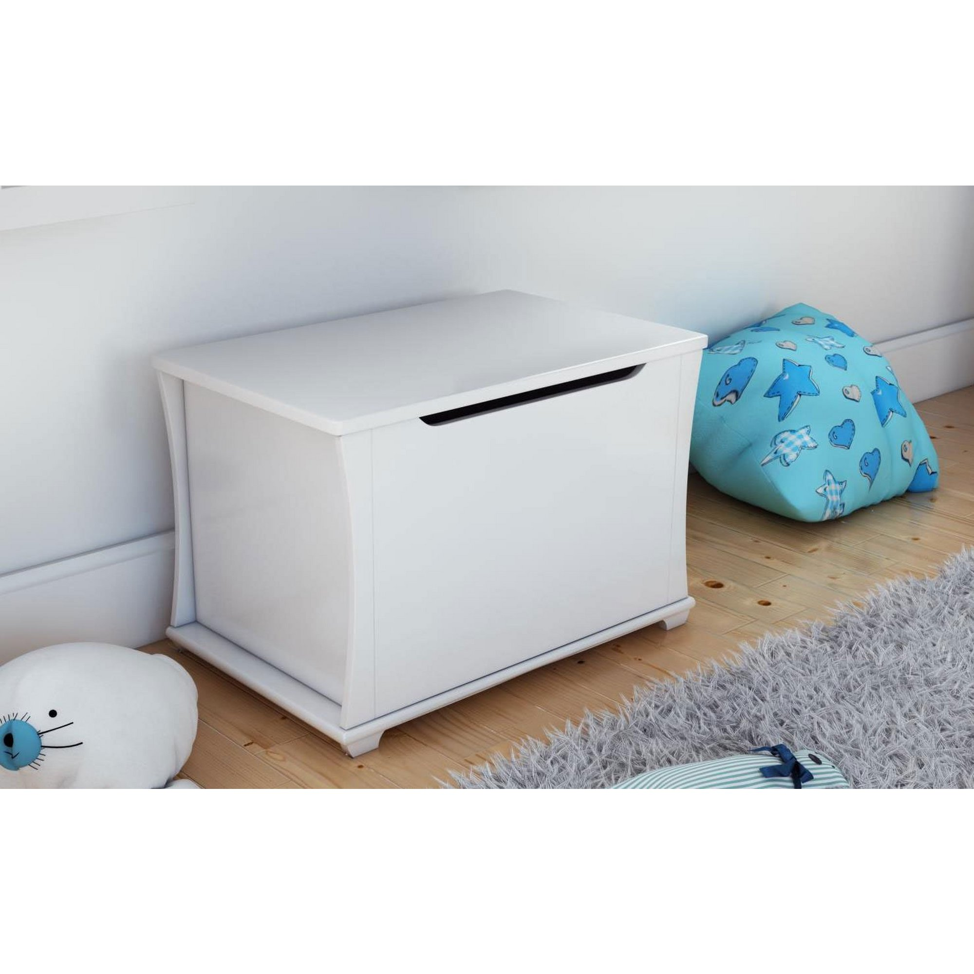 Image of Bel White Toy Chest