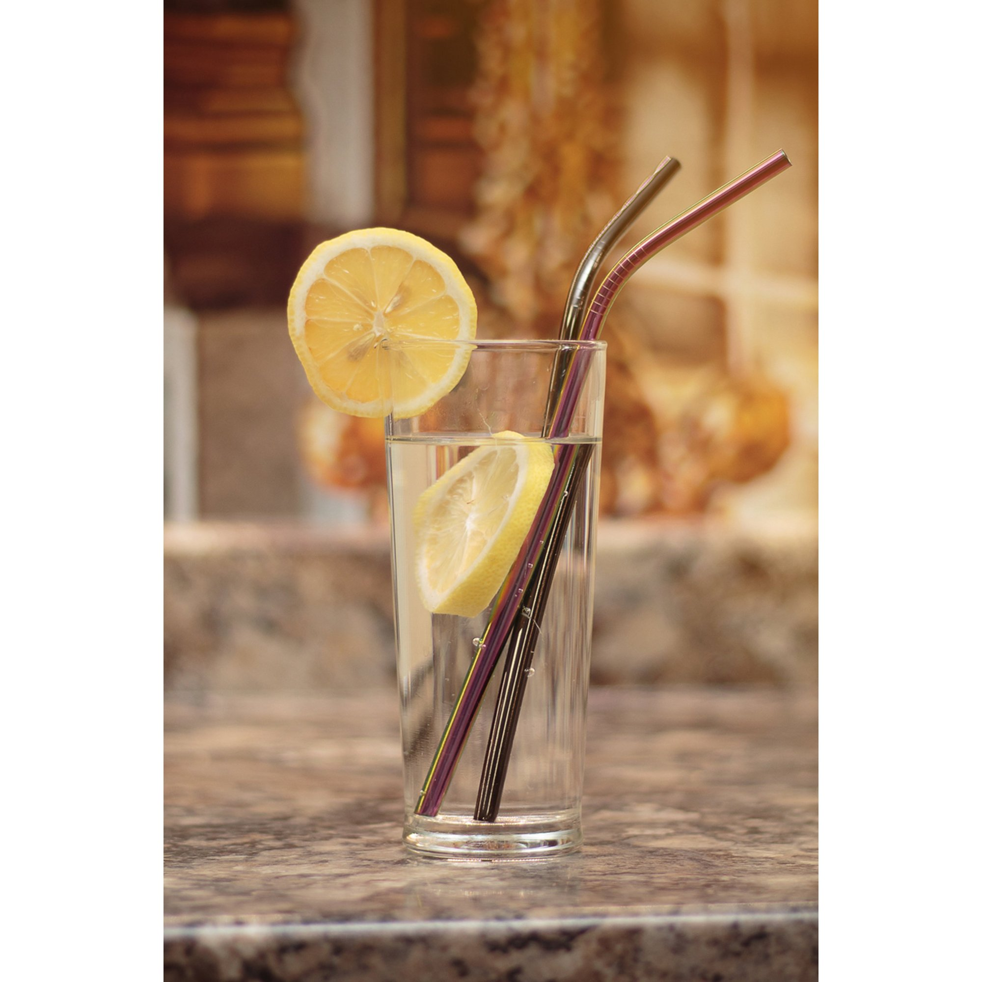 Image of 6 Piece Stainless Steel Straws