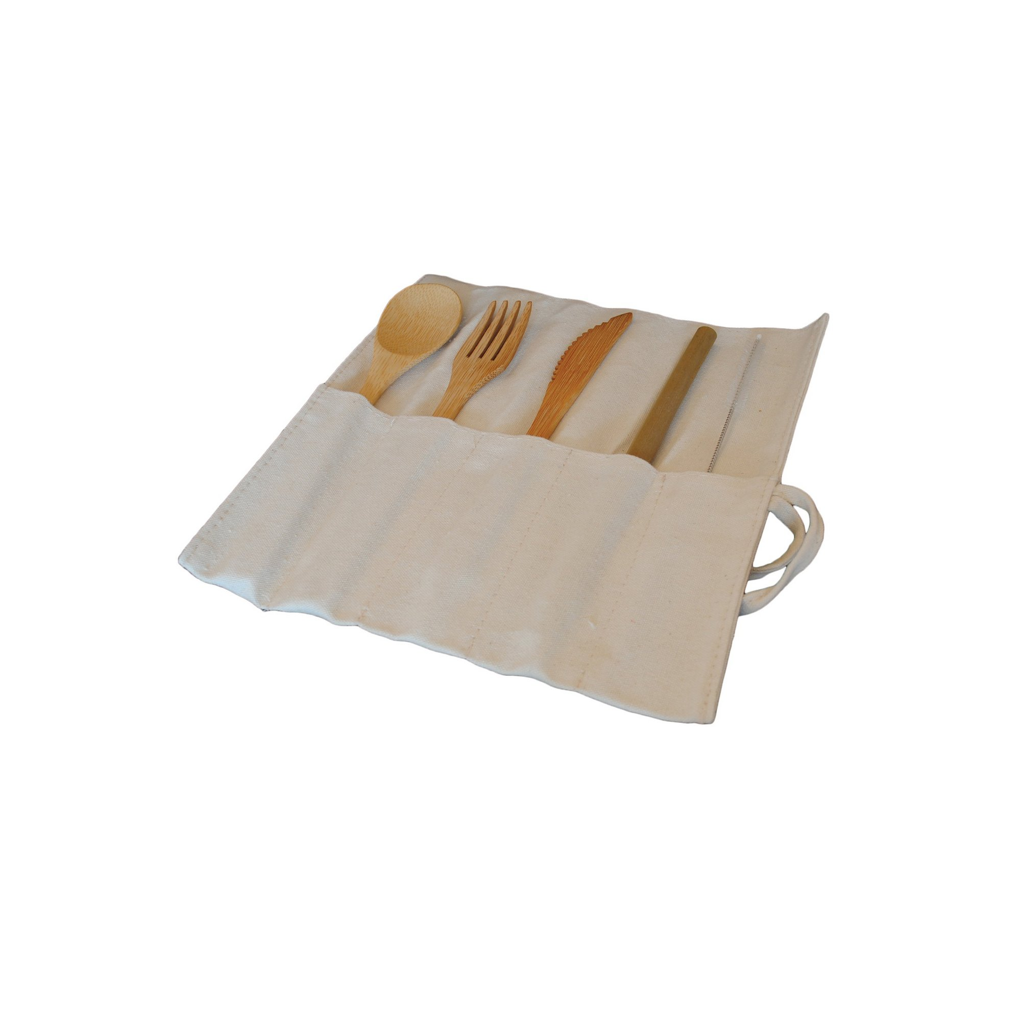 Image of Reusable Bamboo Cutlery Set