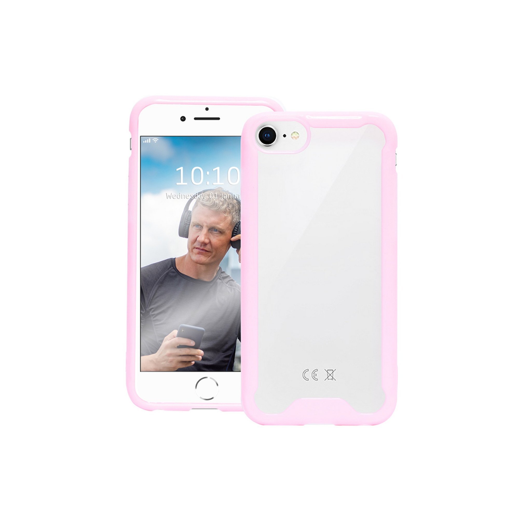 Image of Bumper Case for iPhone 6/7/8 - Clear/Pink