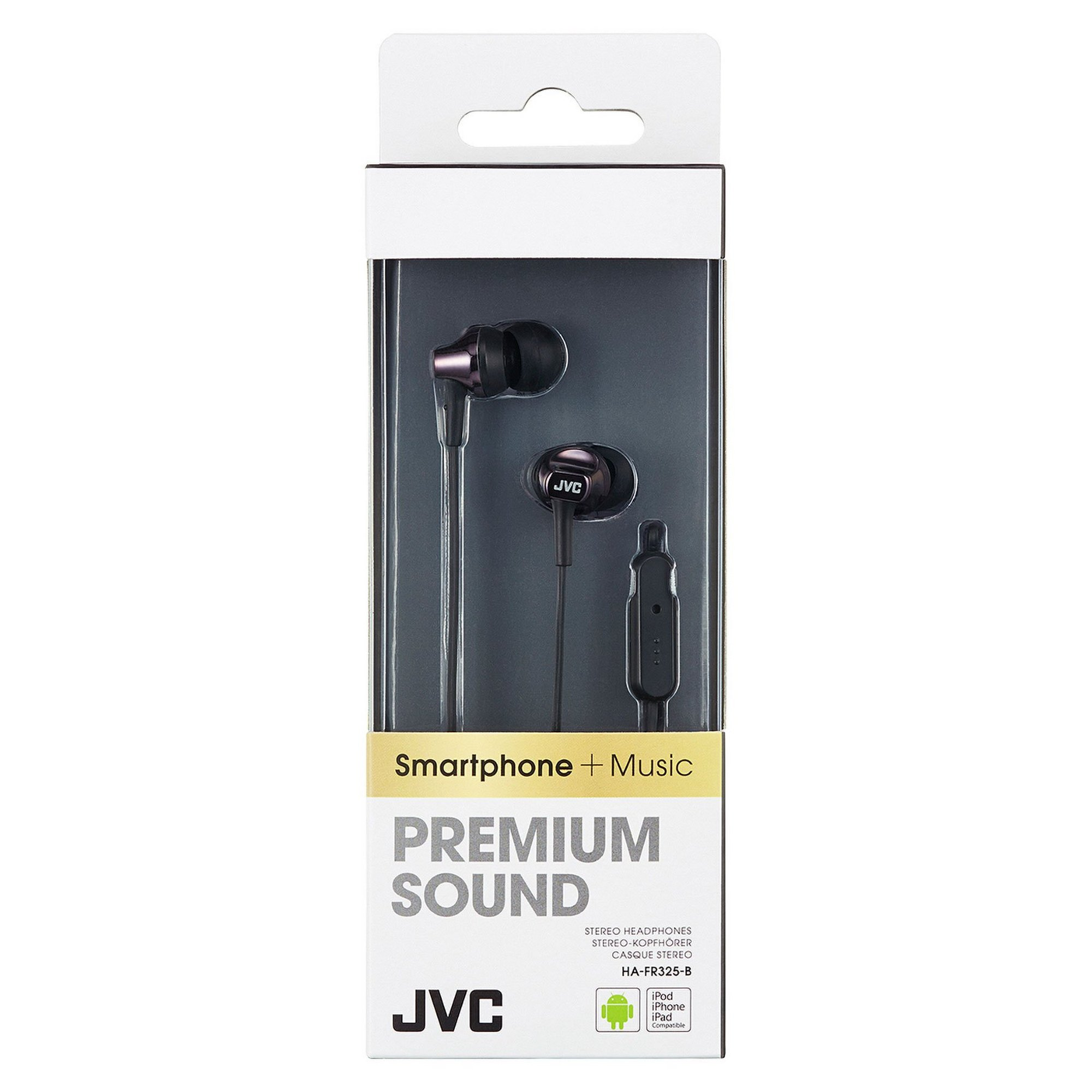 Image of JVC Premium Sound Earphones with Remote and Mic
