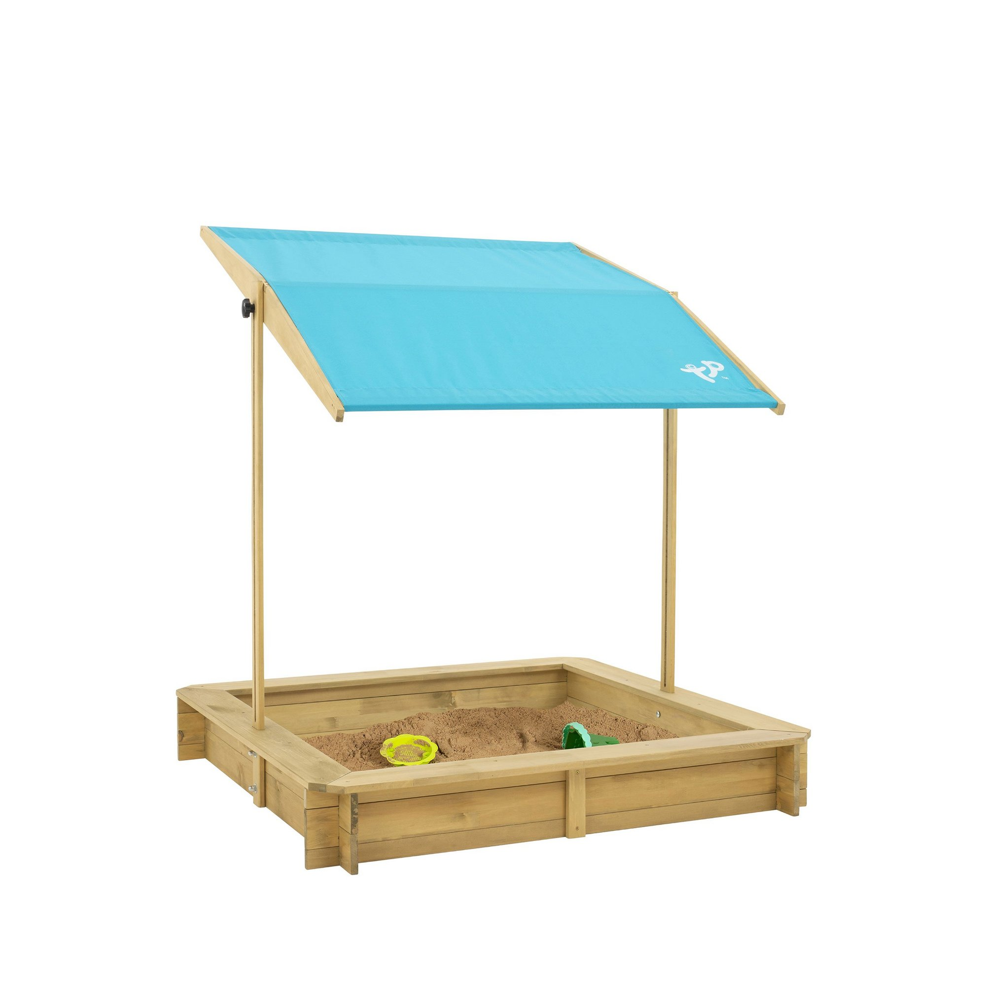 Image of TP Toys Wooden Sandpit with Sun Canopy