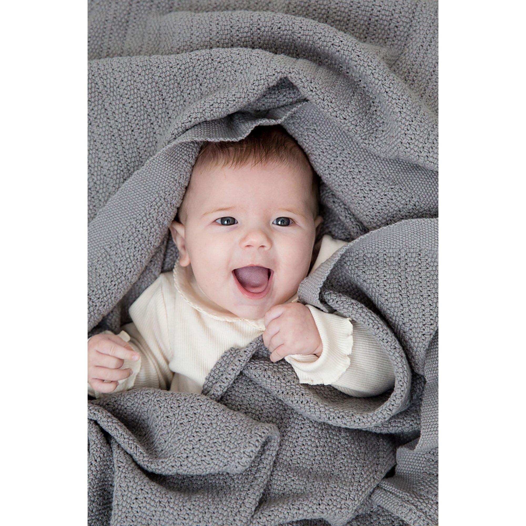 Image of Hippychick Cellular Baby Blanket - Slate Grey