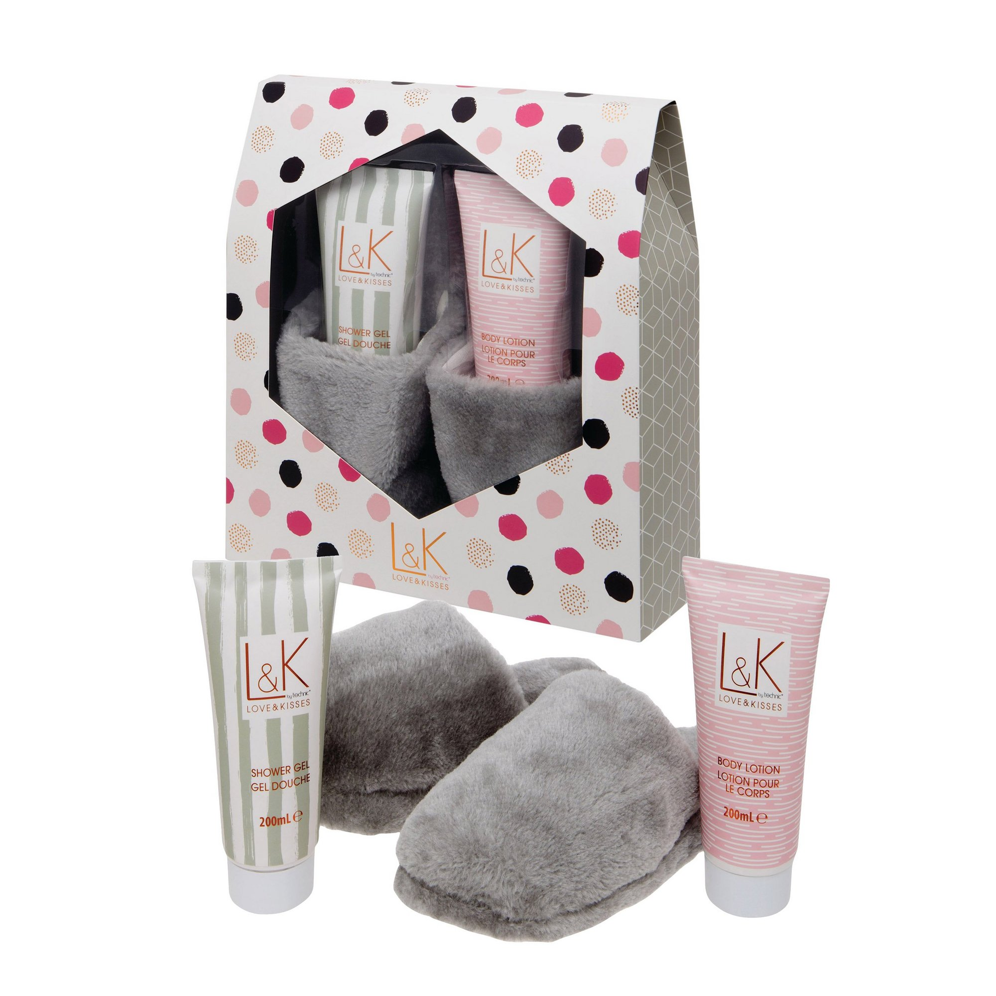 Image of Technic Love and Kisses Slipper Gift Set