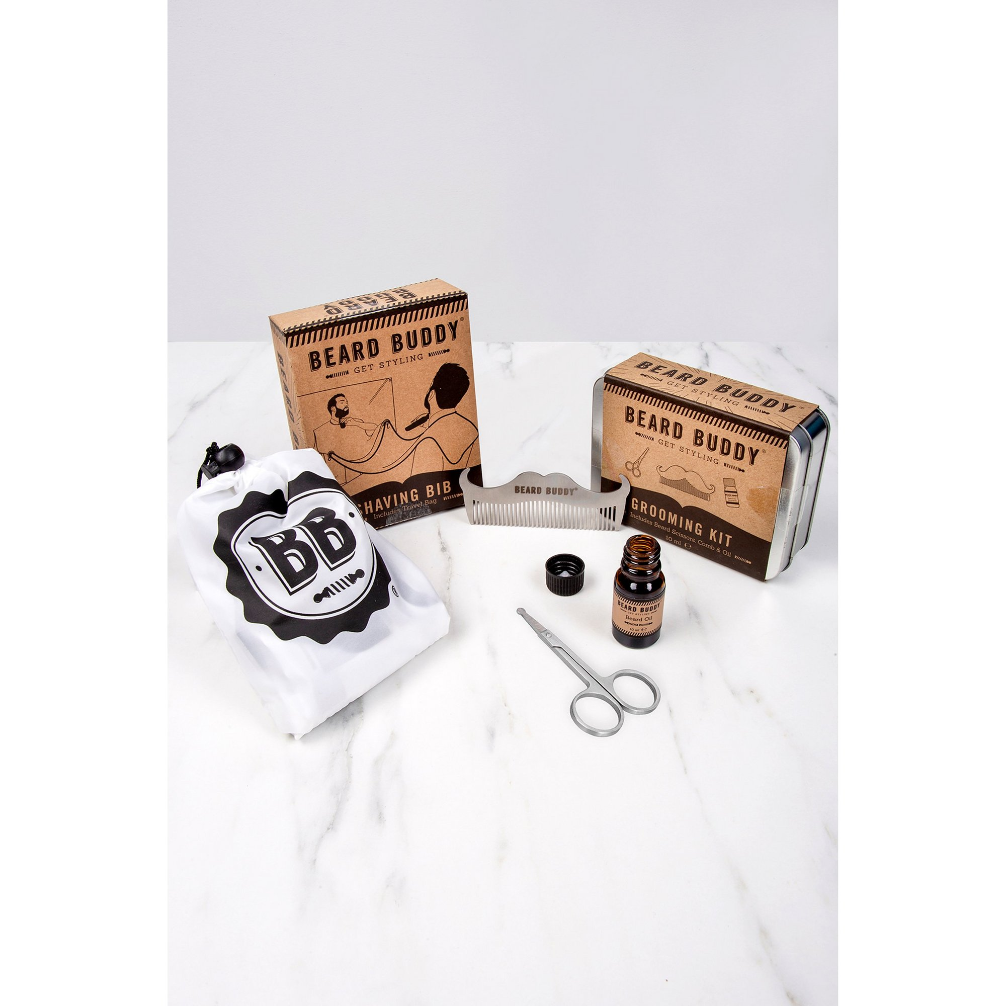 Image of Beard Buddy Shaving Bib and Grooming Kit