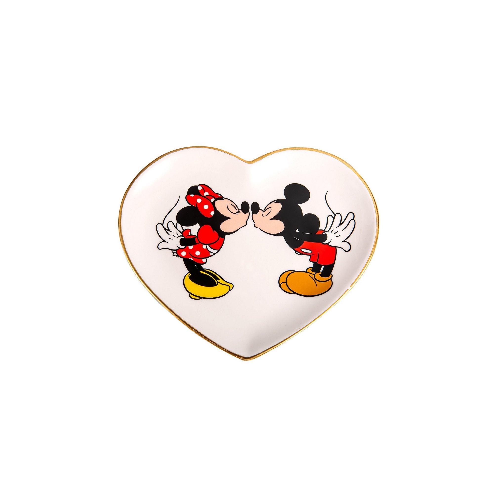 Image of Disney Minnie and Mickey Heart Shaped Trinket Tray