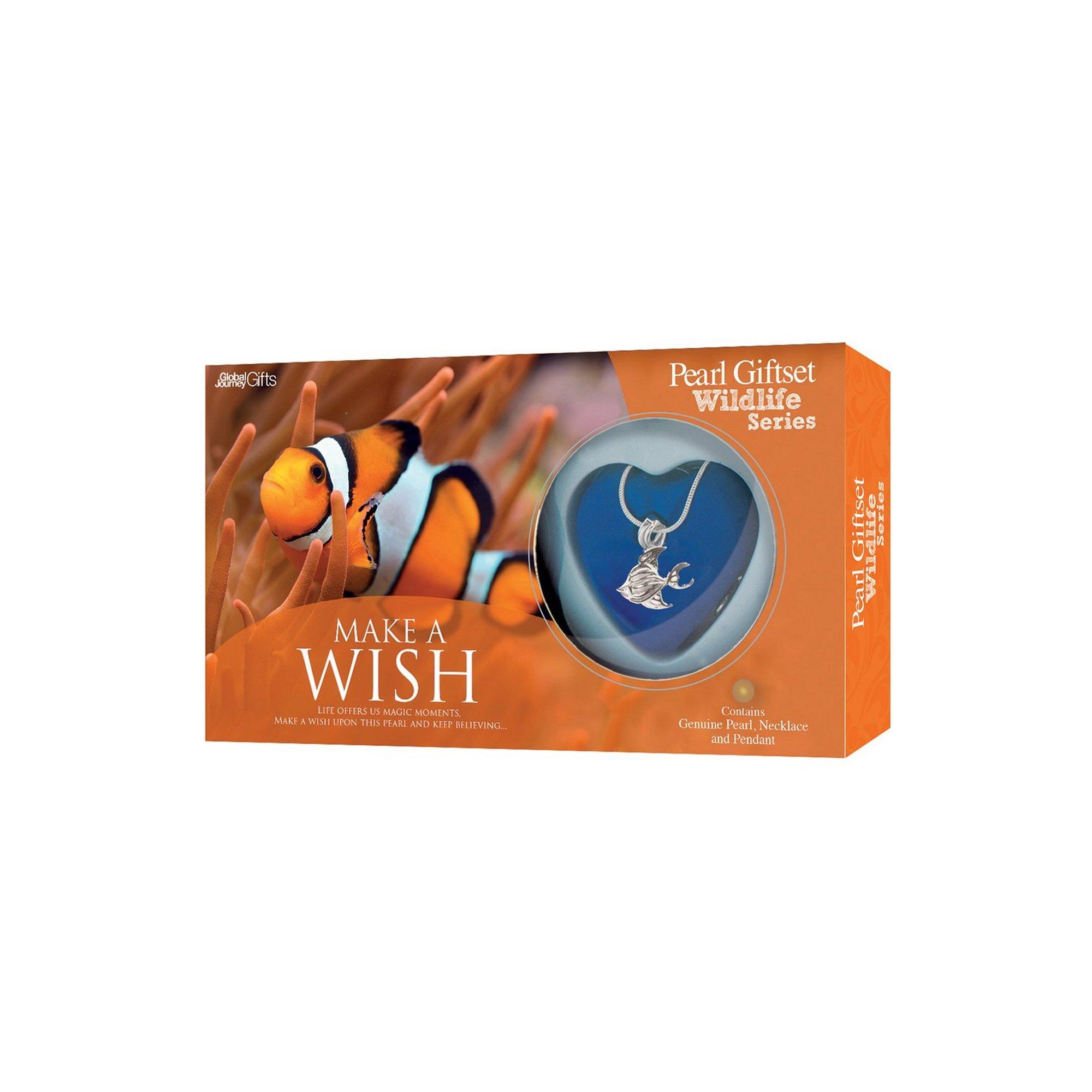 Image of Make A Wish Clown Fish Pearl Pendant Gift Set