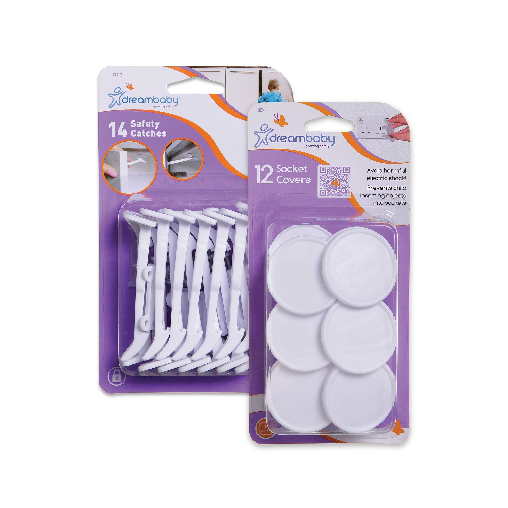 Image of 14 Safety Catches and 12 Socket Covers Value Pack