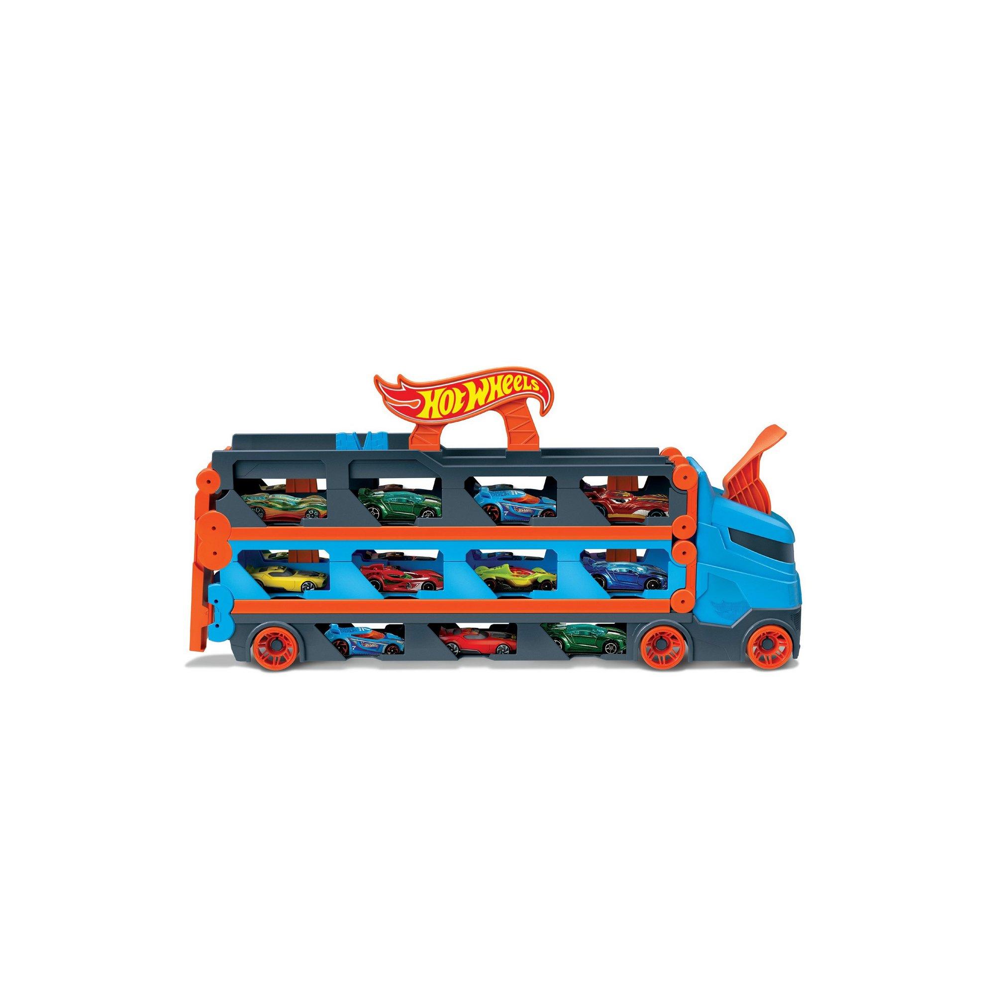 Image of Hot Wheels City Speedway Hauler Play Set