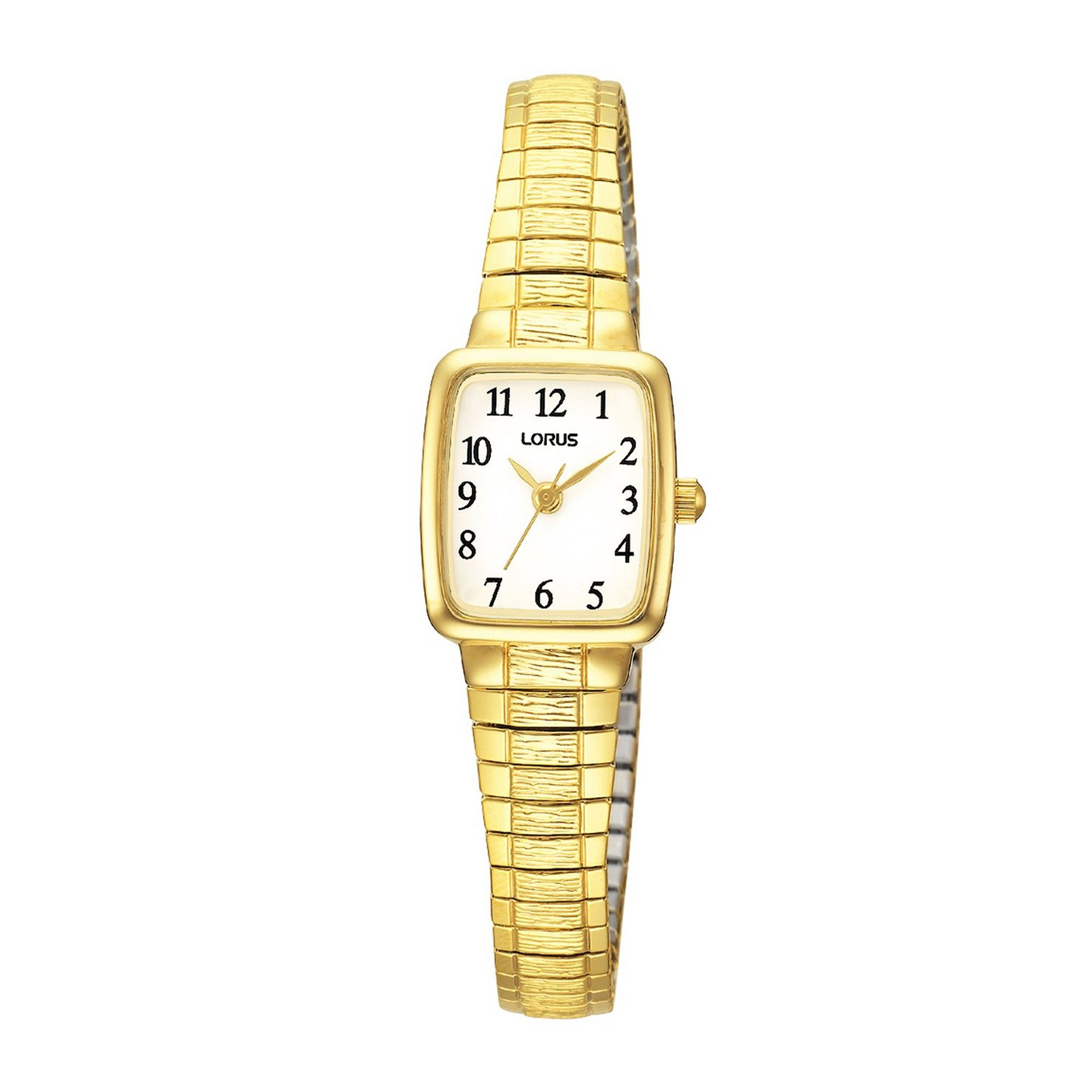 Image of Lorus Gold Plated Expanding Bracelet Watch with Square Face