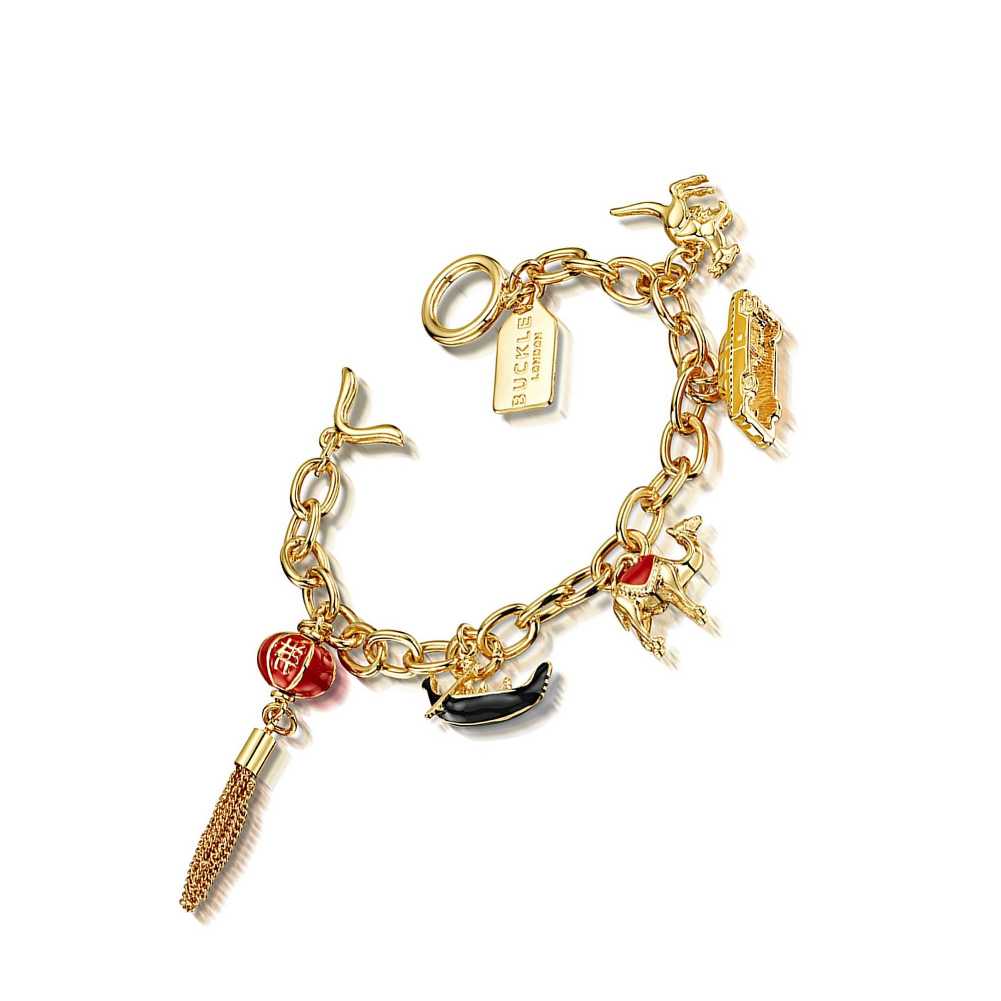 Image of Buckley London Around the World Charm Bracelet