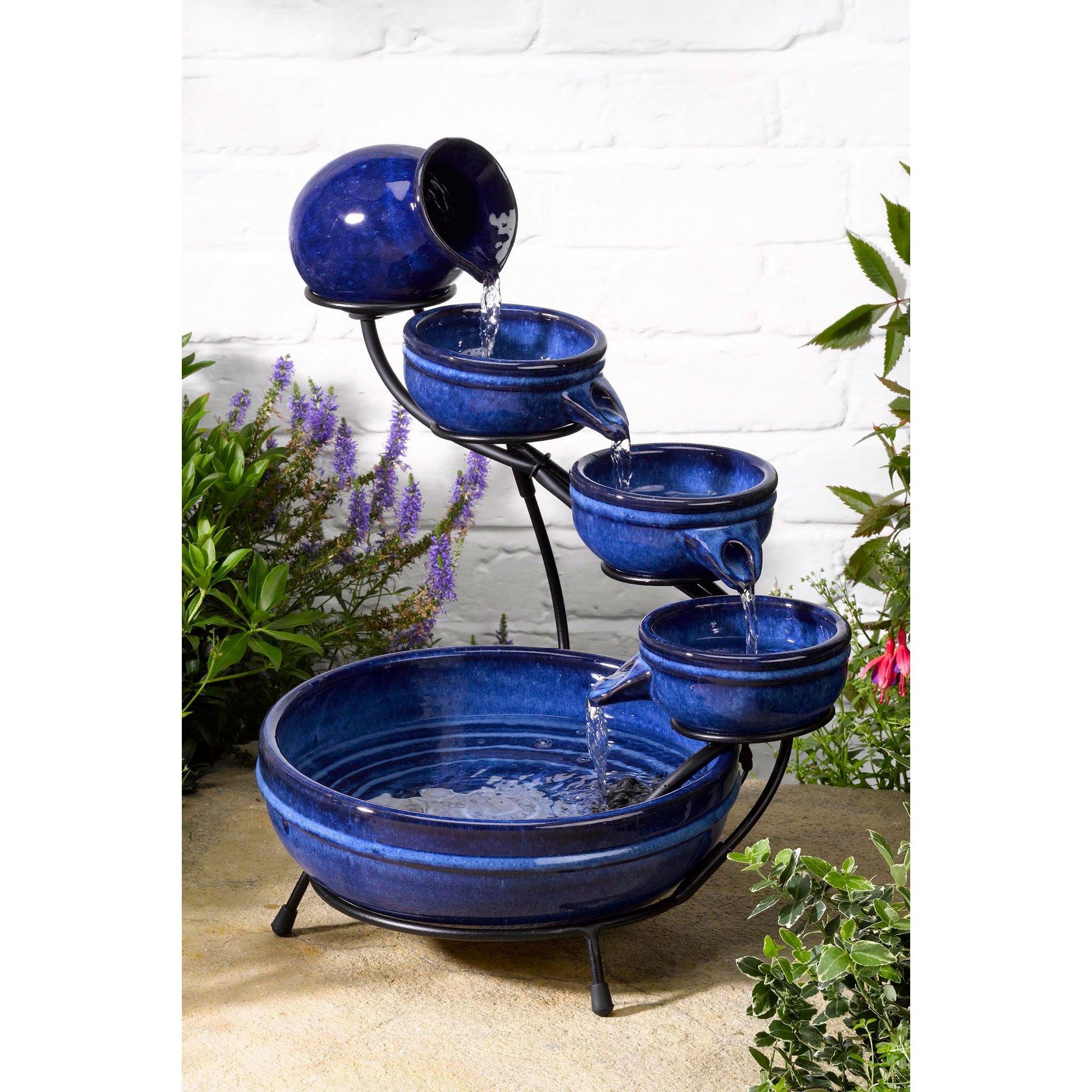 Image of Ceramic Solar Neptune Fountain
