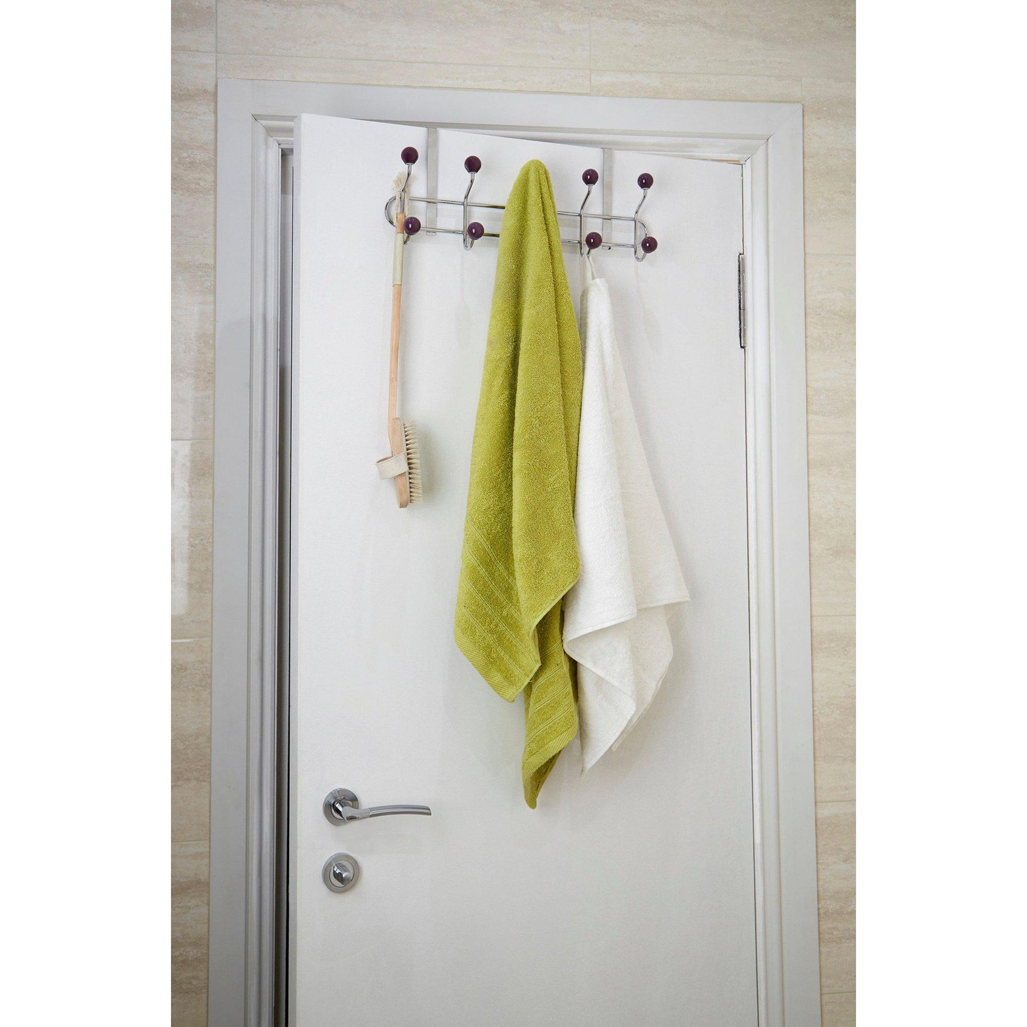Image of 10 Hook Purple Over Door Hanger