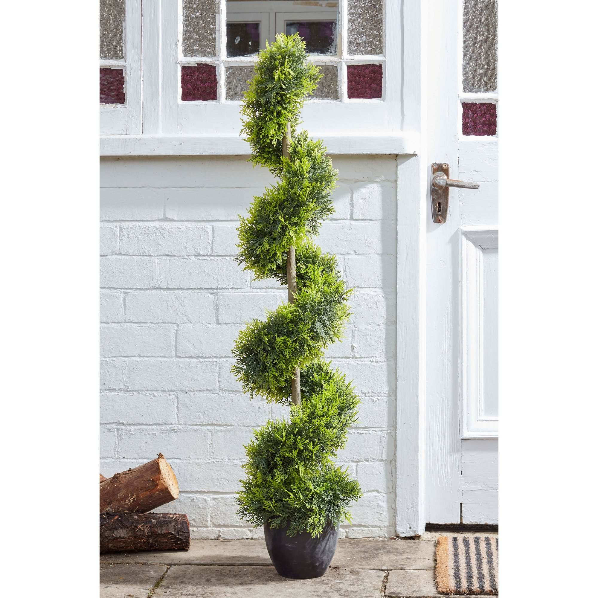 Image of Artificial Cypress Topiary Twirl
