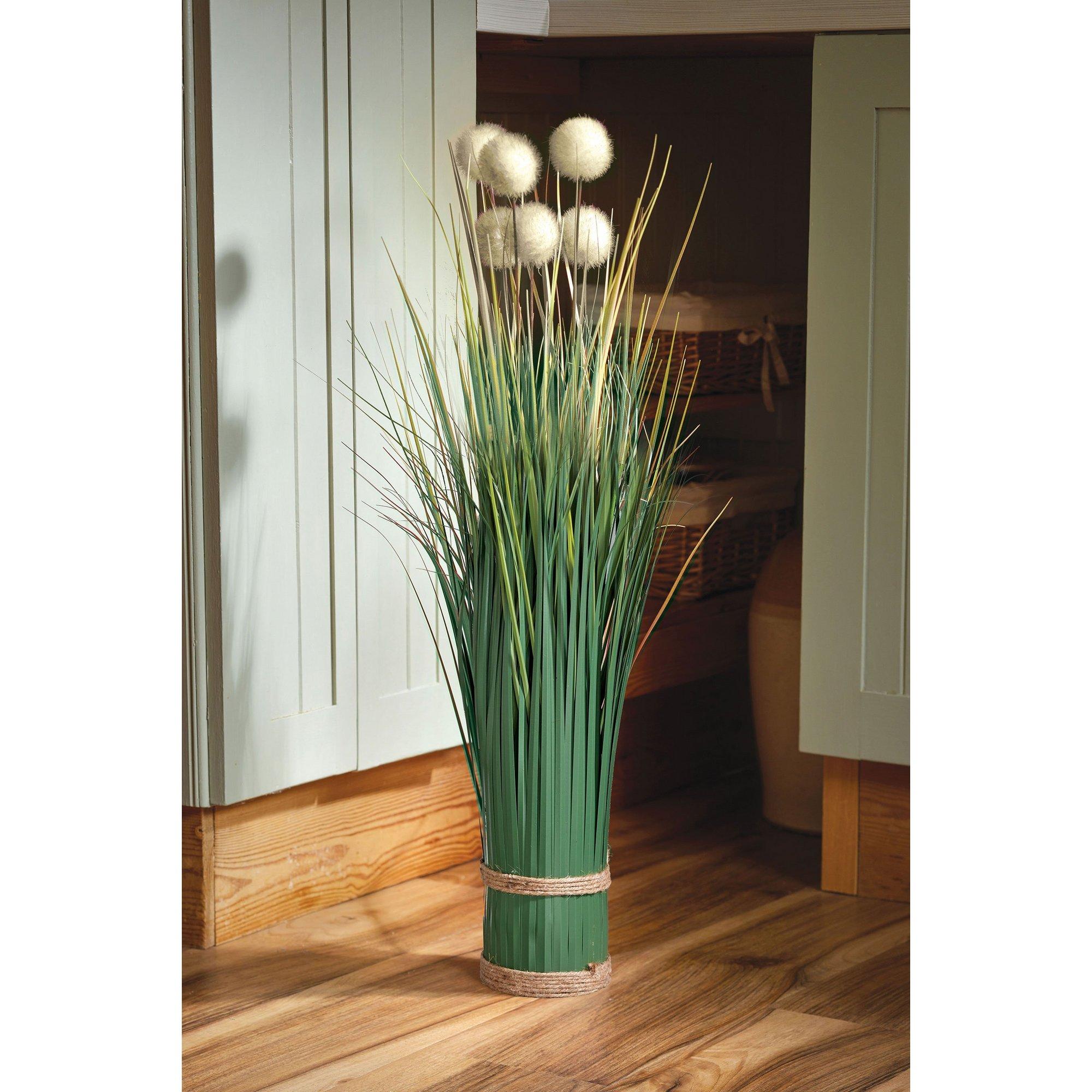 Image of Faux Bouquet Pom Pom Grass