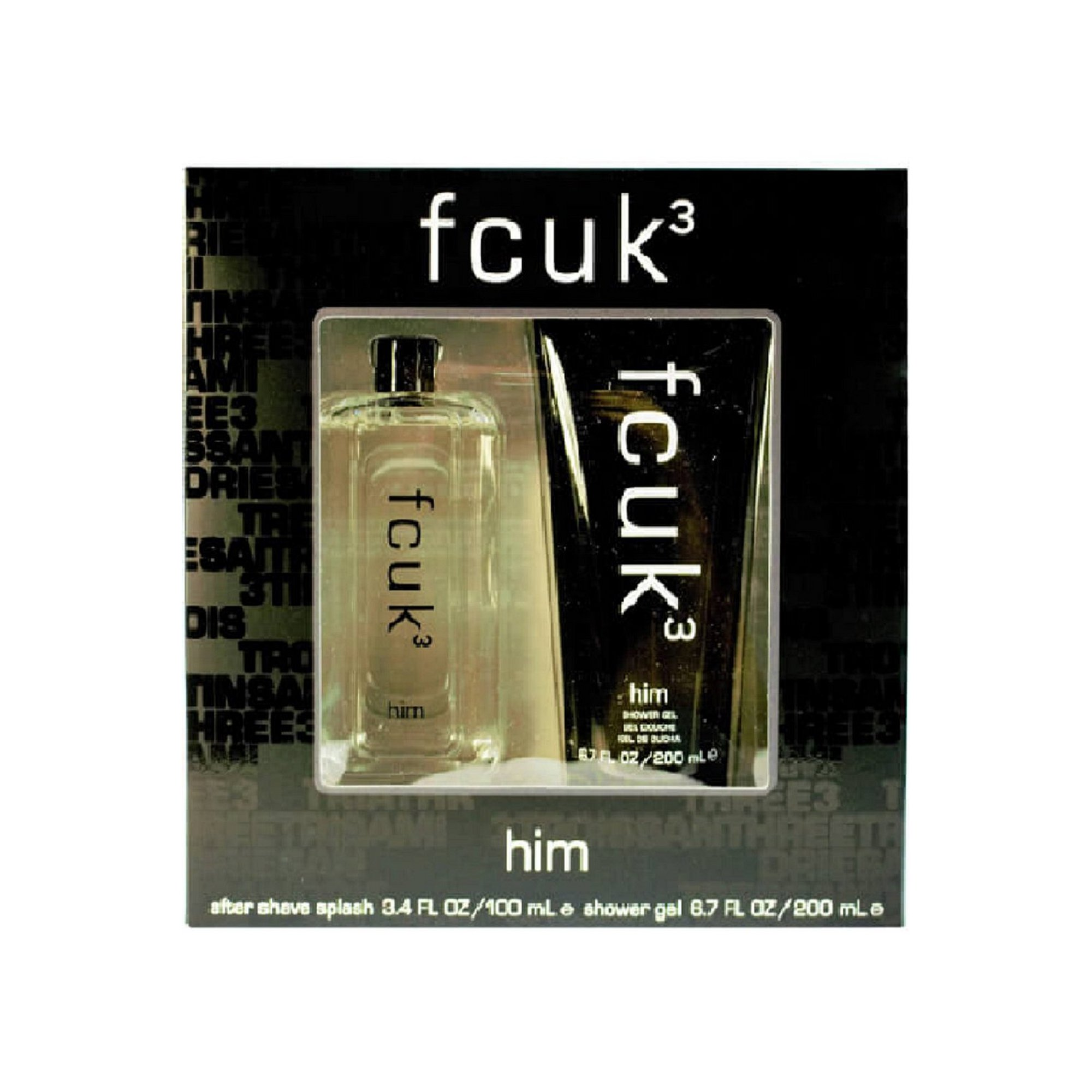 Image of FCUK 3 For Him 100ml Aftershave Gift Set