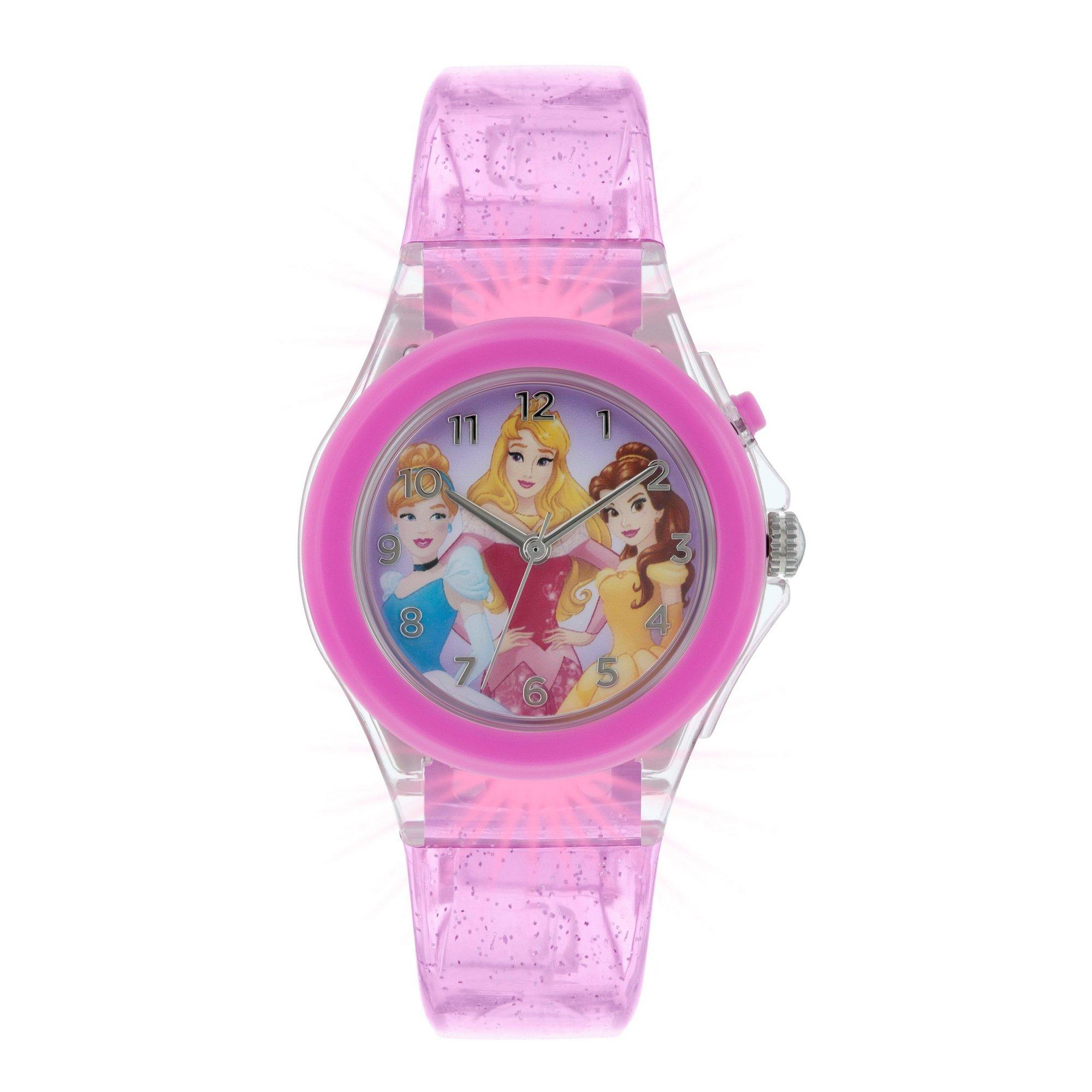 disney princess pink silicone analogue watch