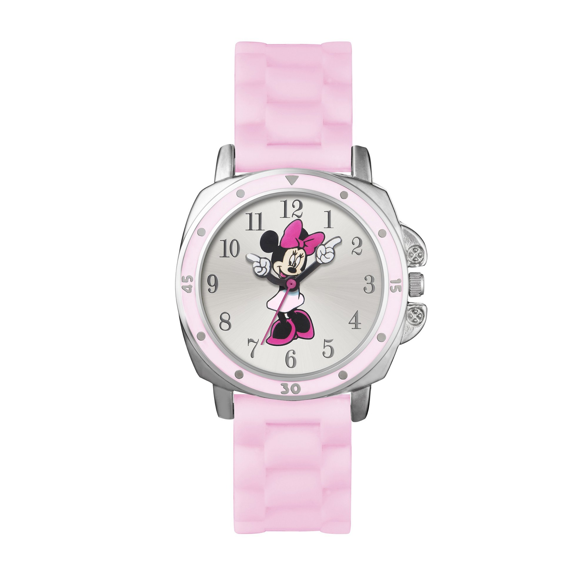 Image of Disney Minnie Mouse Analogue Pink Strap Watch
