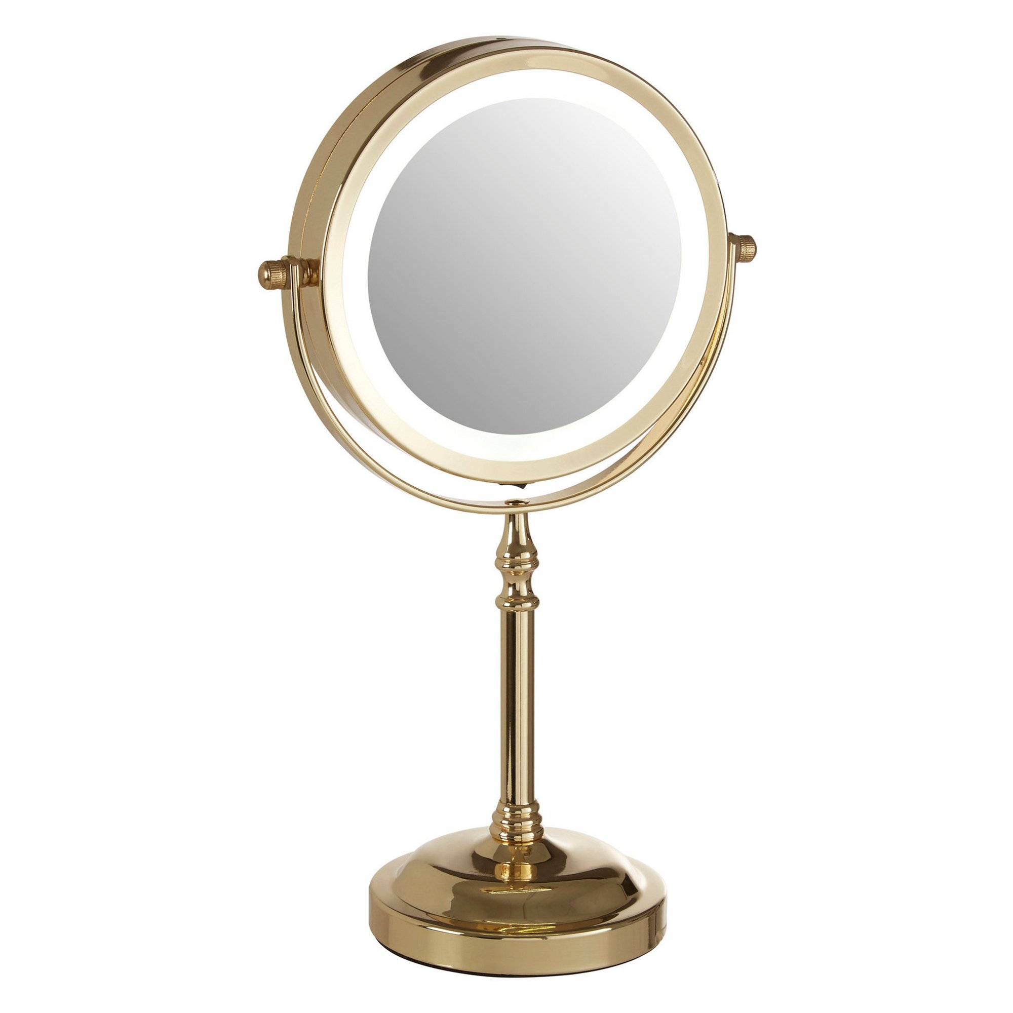 Image of Cassini Gold LED Table Mirror