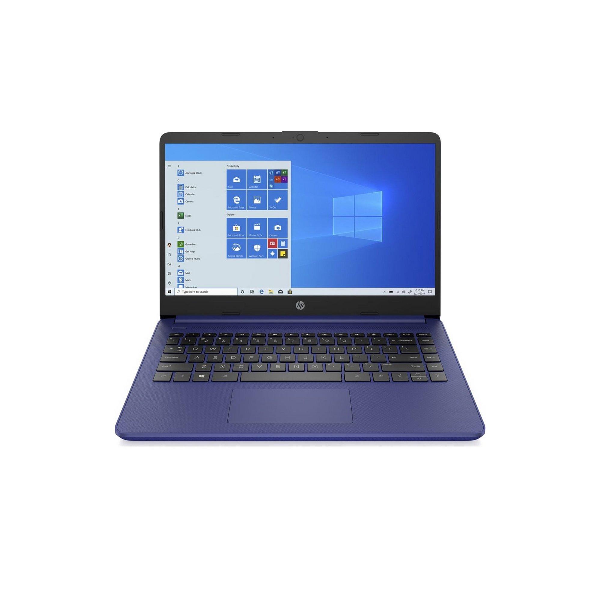 Image of HP 14s-fq0017 14 Inch Laptop AMD 4GB RAM 64GB eMMC Win10 Office 3...