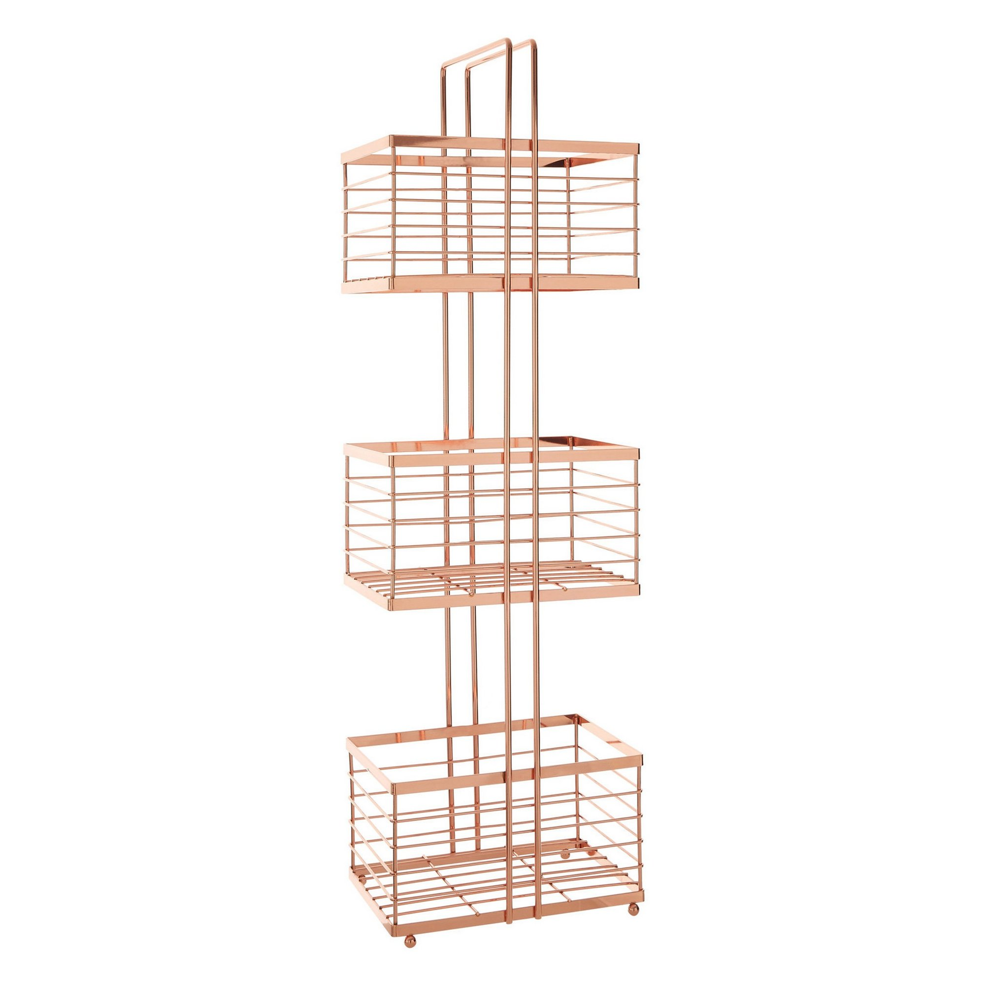 Image of 3 Tier Rose Gold Storage Caddy