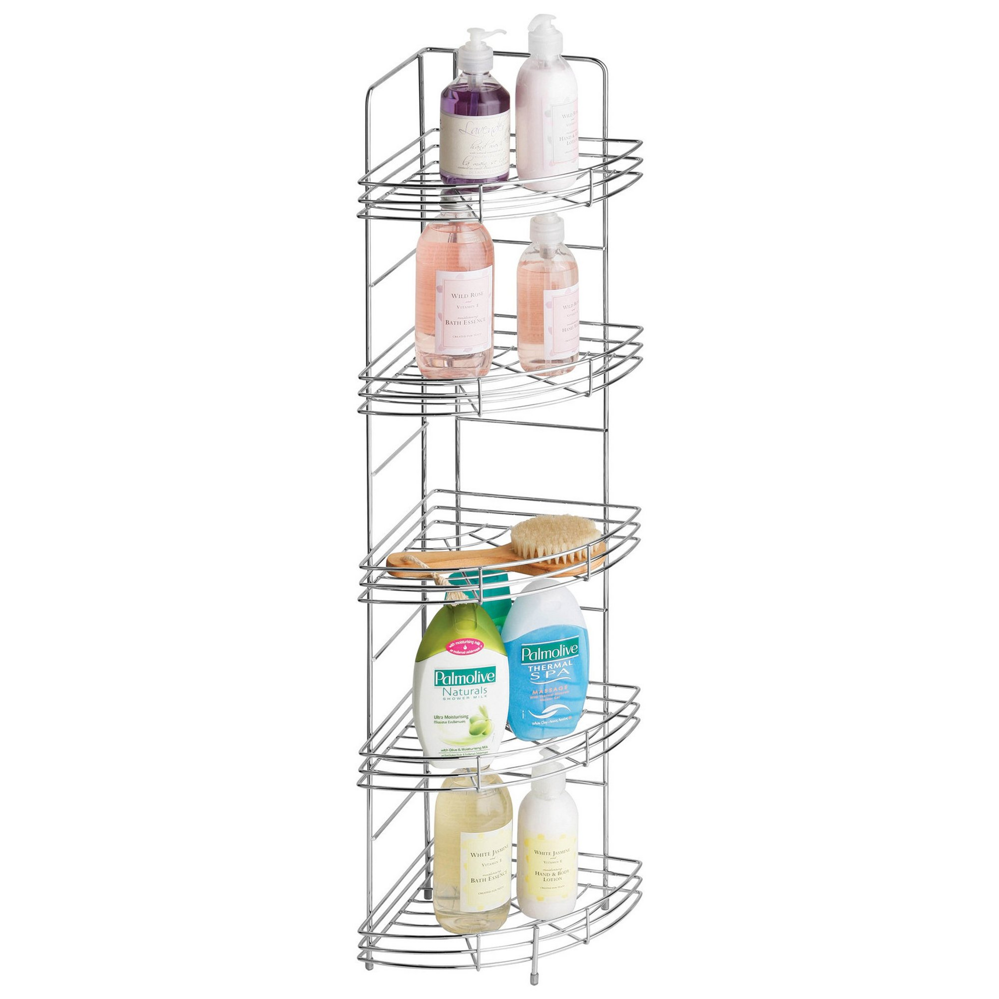 Image of Corner Bathroom Storage Rack