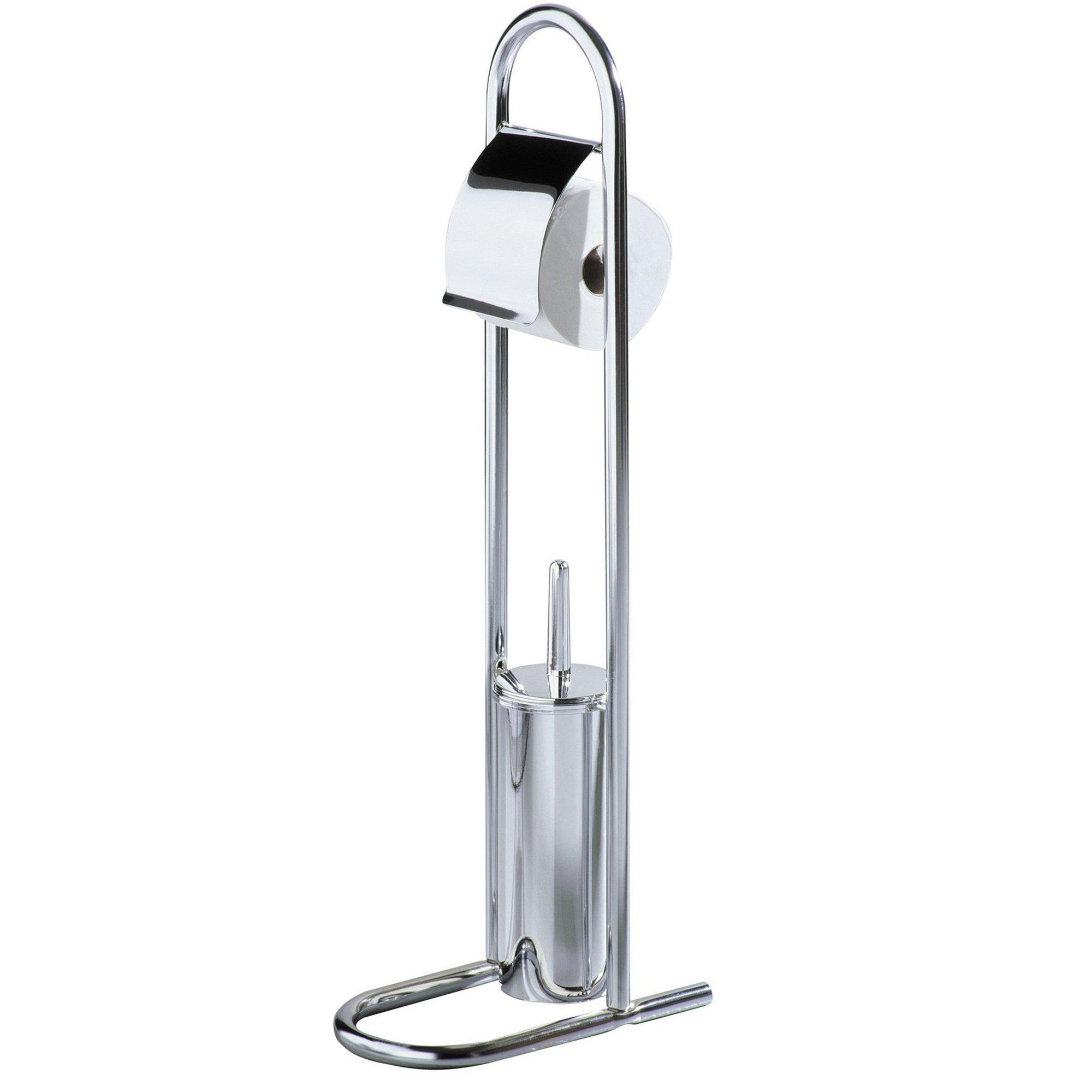 Image of Chrome Toilet Brush and Roll Holder